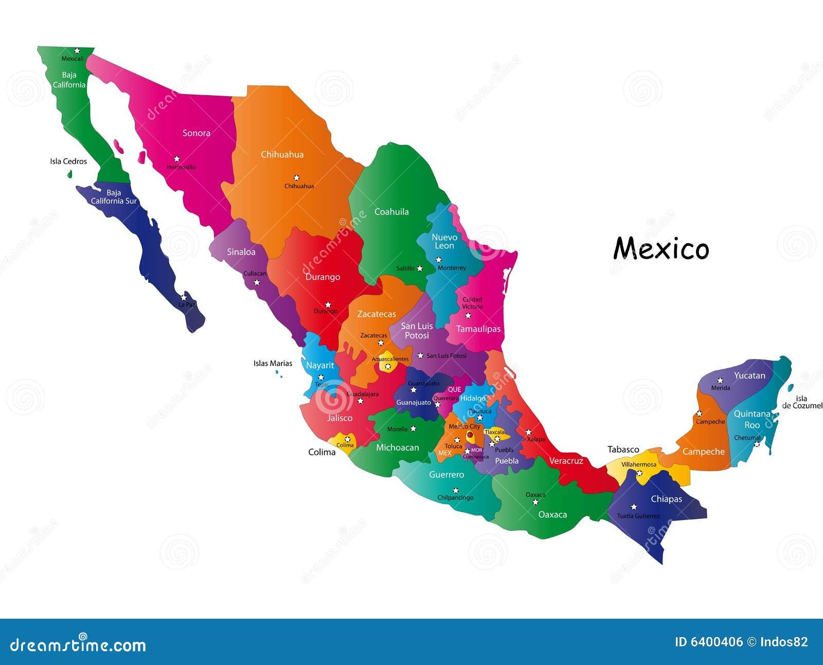 Honduras Mexico Map.Mexico Map Stock Vector Illustration Of Honduras Graphing 6400406