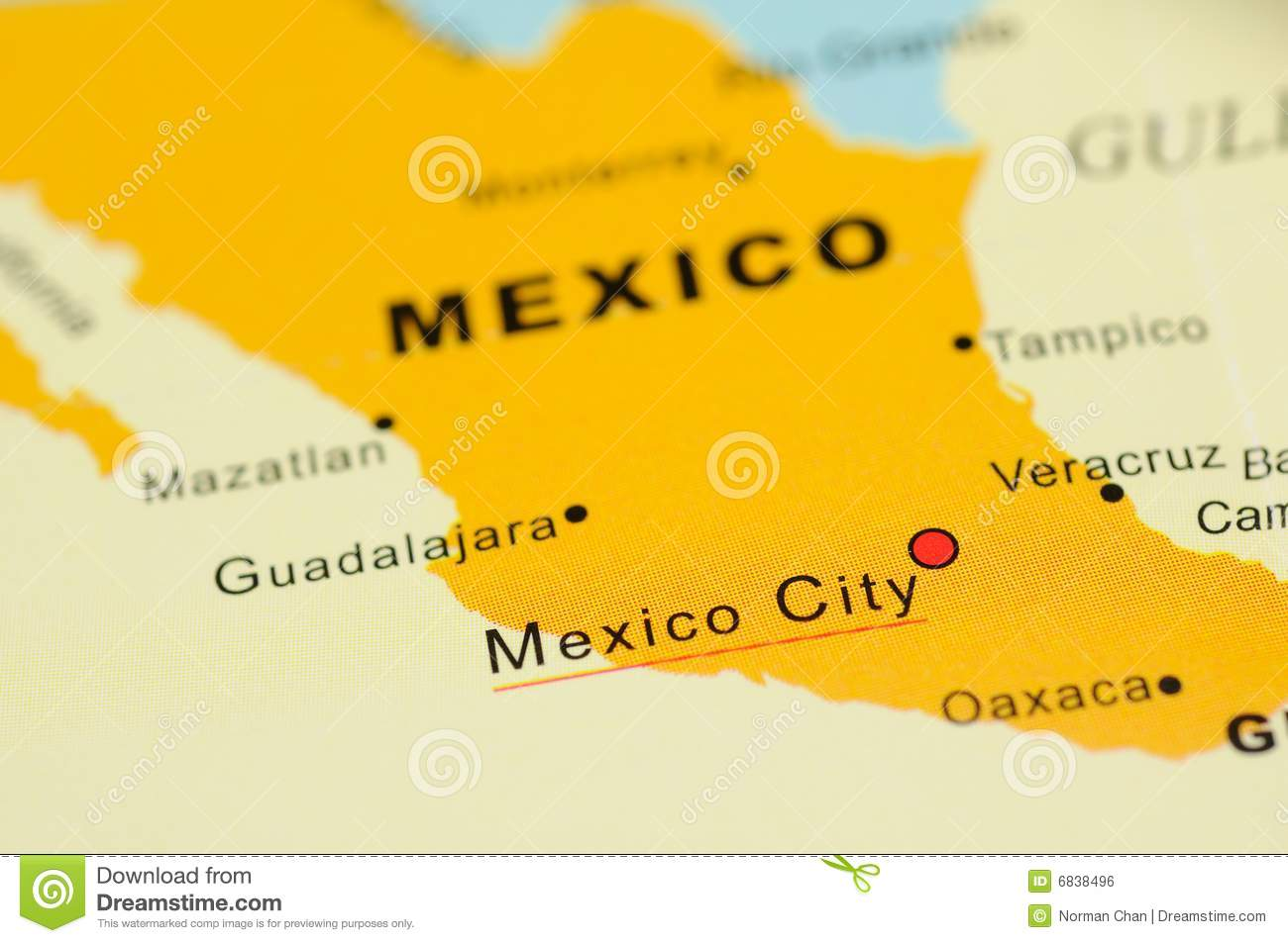 Mexico On Map Stock Photo Image Of Travel Country Closeup 6838496