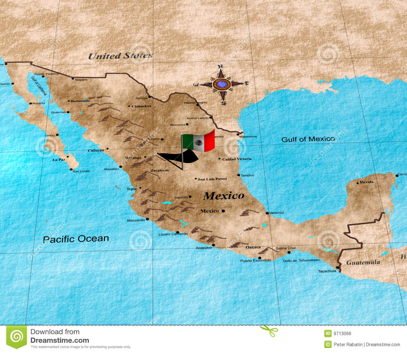 Golfo De Mexico Map.Mexico Map Stock Illustration Illustration Of Shore America 9713066