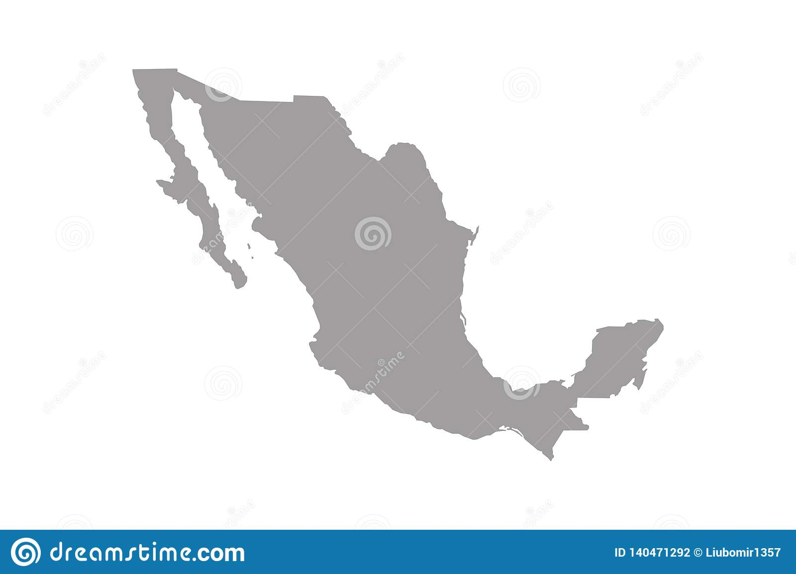 Mexico Map. High Detailed Map Of Mexico On White Background ...