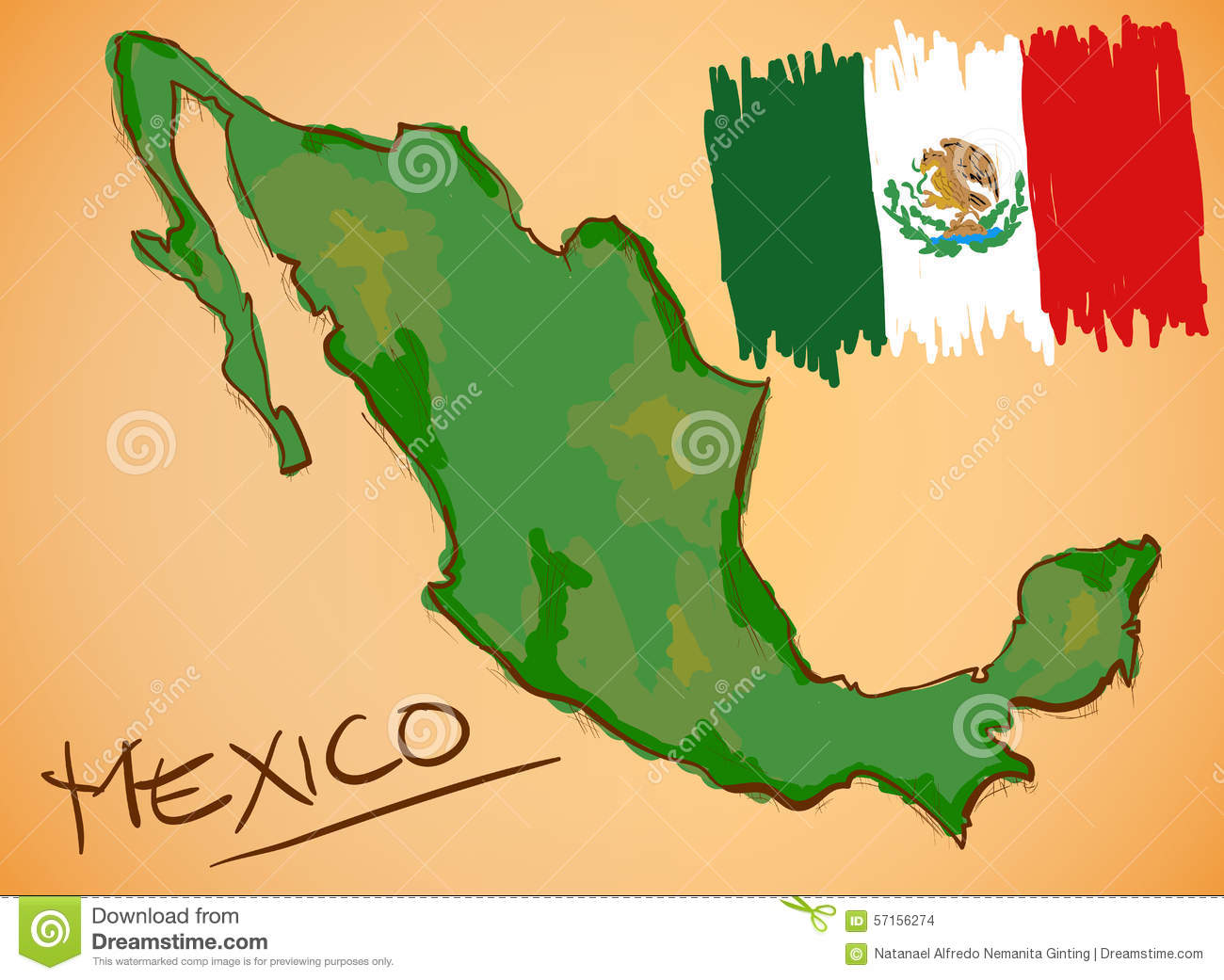 mexico text with map on flag royalty free stock photo image 5248825