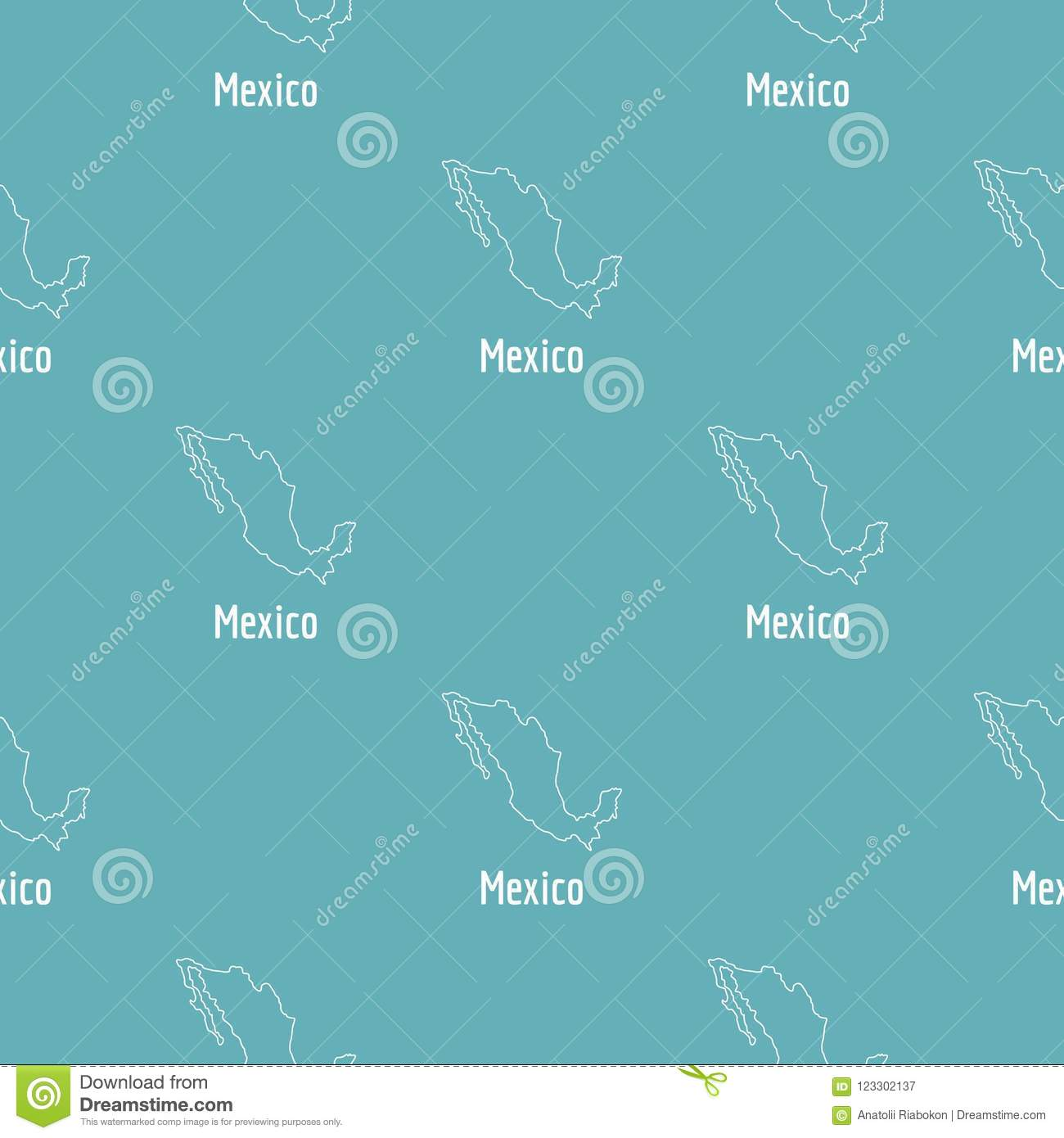 Mexico Map Thin Line Simple Stock Illustration Illustration Of