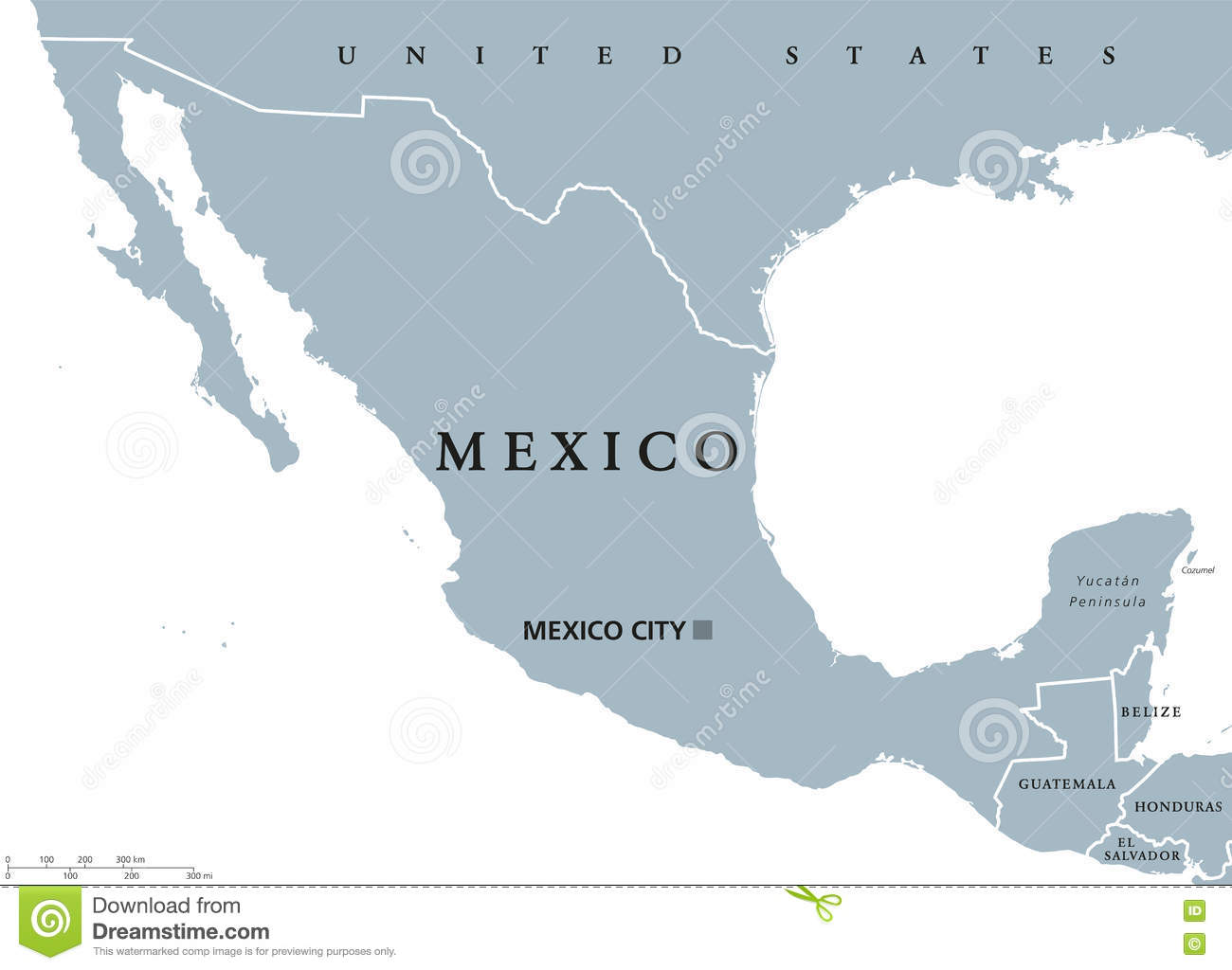 Mexico political map stock vector. Illustration of geography - 82244481