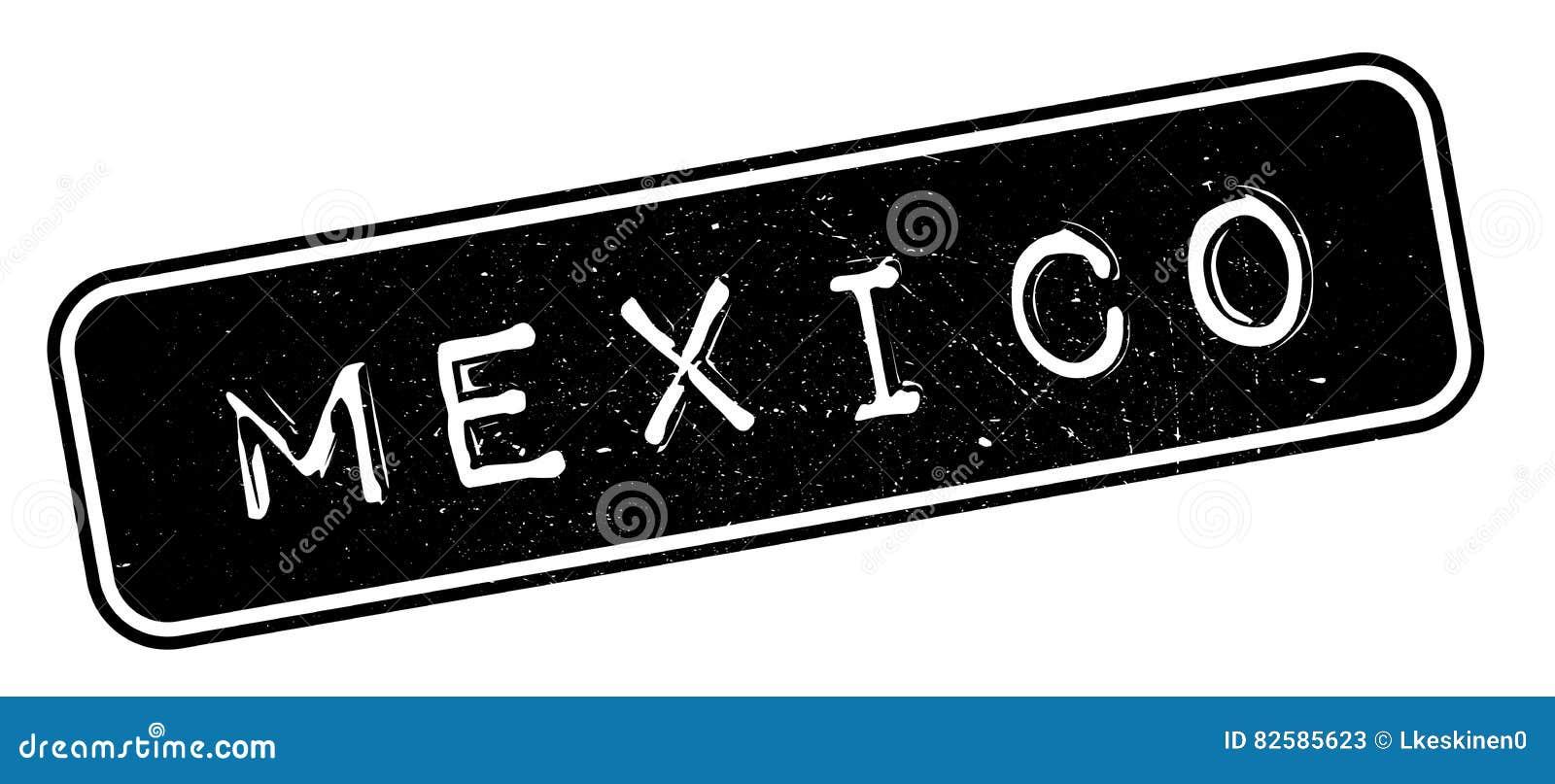 Mexico rubber stämpel