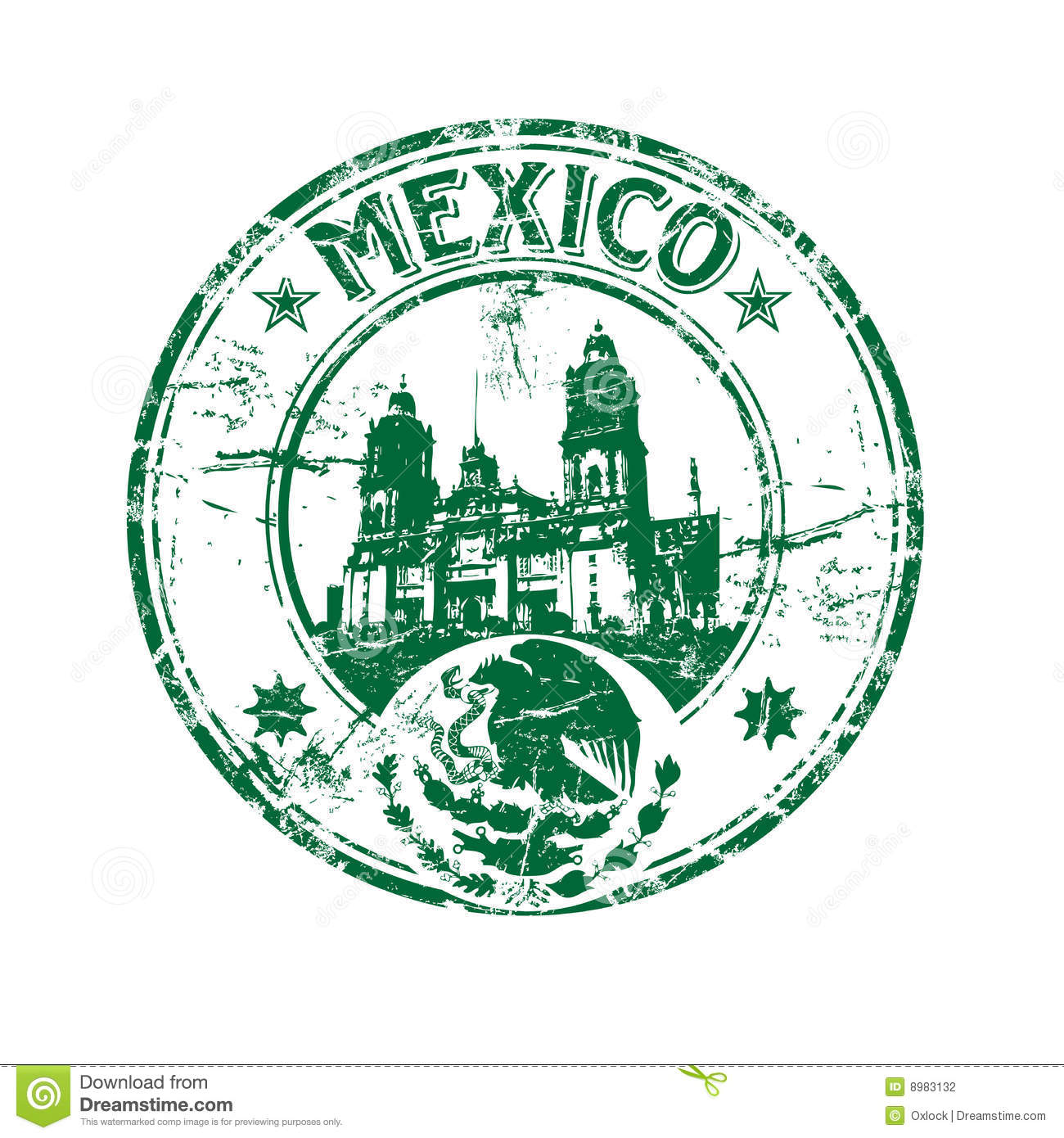 Mexico Rubber Stamp Stock Photography Image 8983132