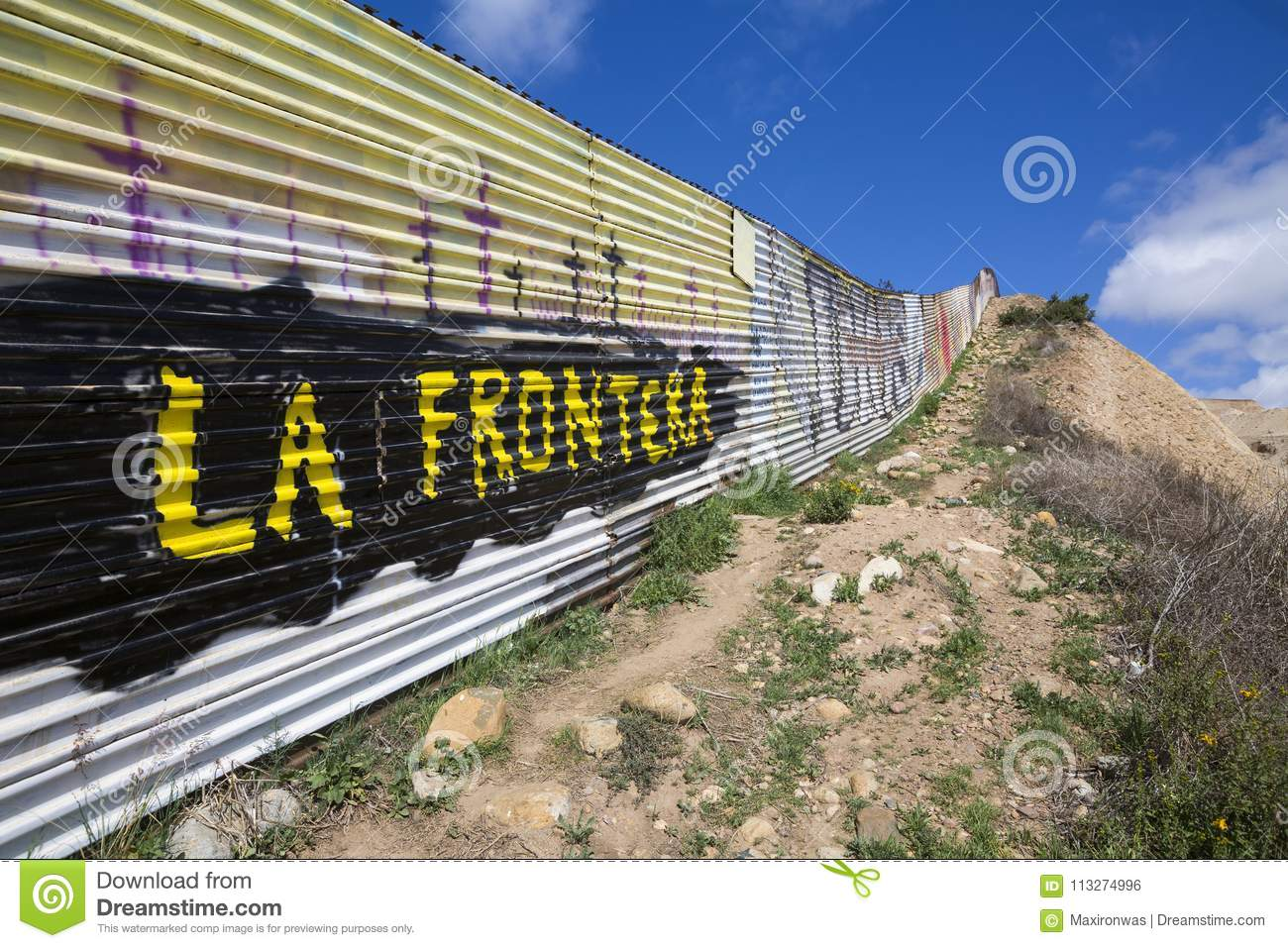 Mexico - Tijuana - The Wall Of Shame Editorial Photo - Image of ... bcbe1fcfea1