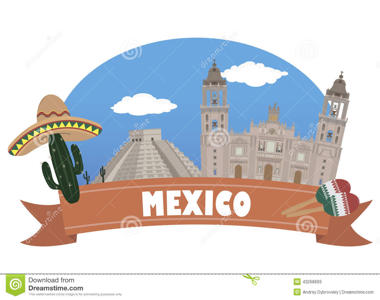 mexico tourism and travel stock vector image 43268693 country music clip art borders country music clipart free