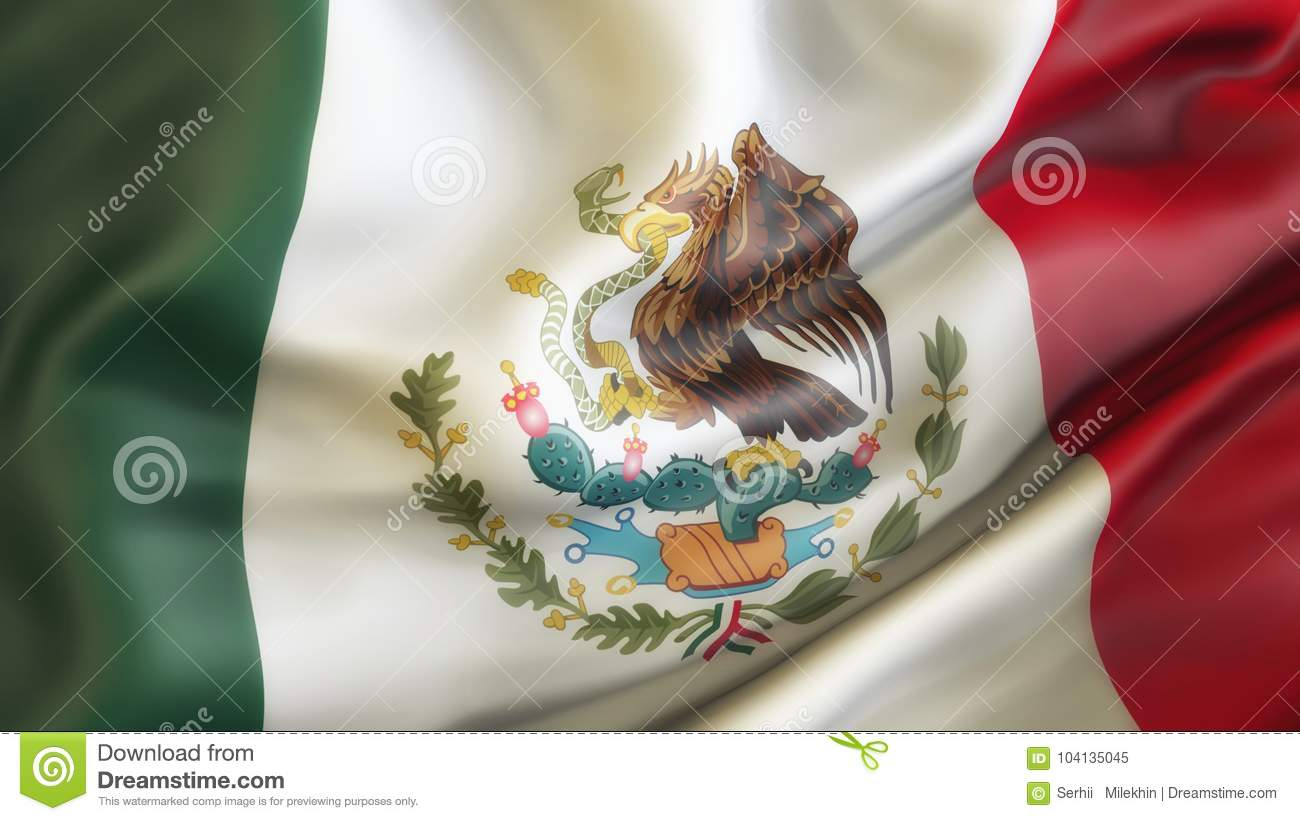 Mexico, Waiving Flag of Mexico,