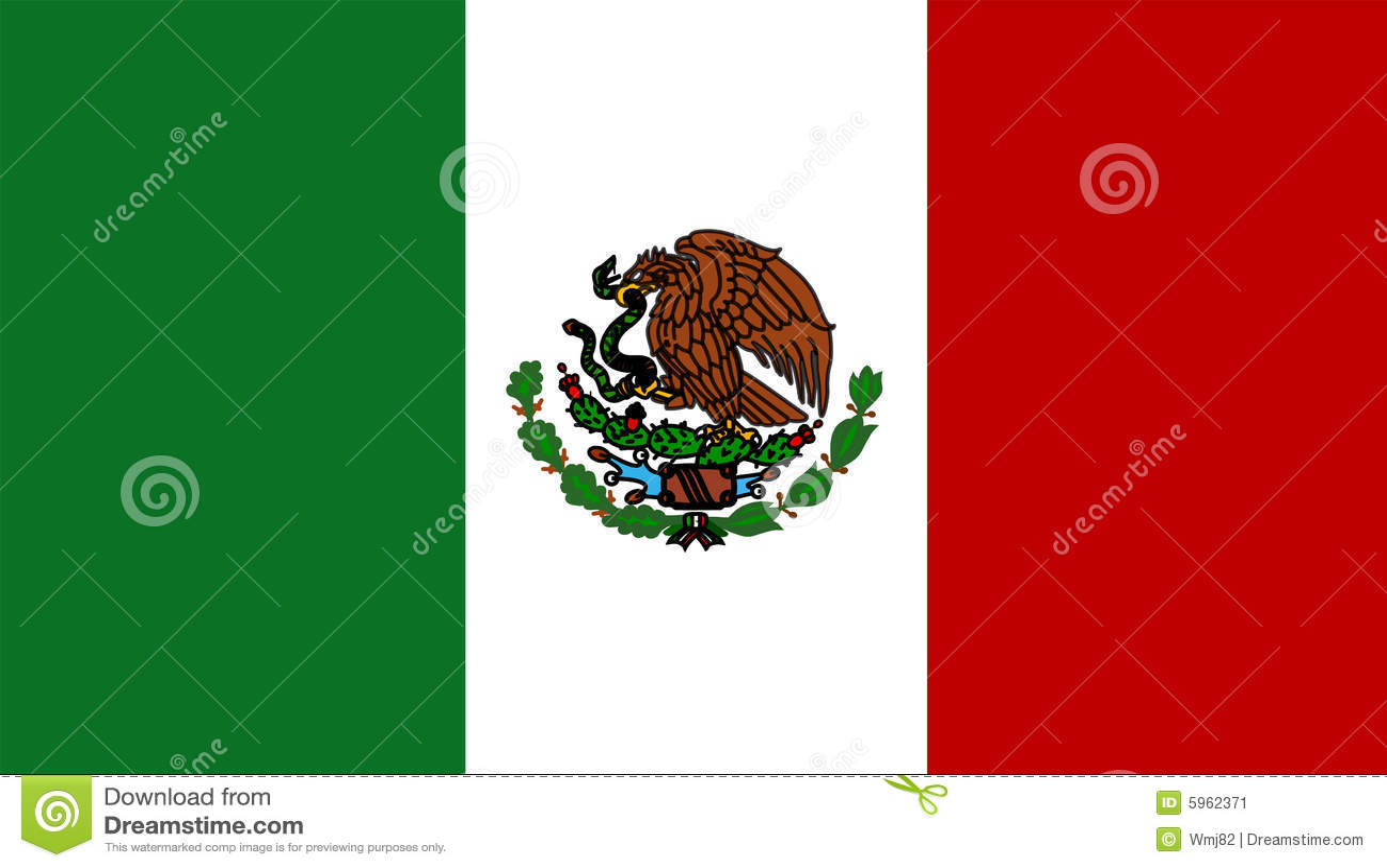 Mexiko-Markierungsfahne