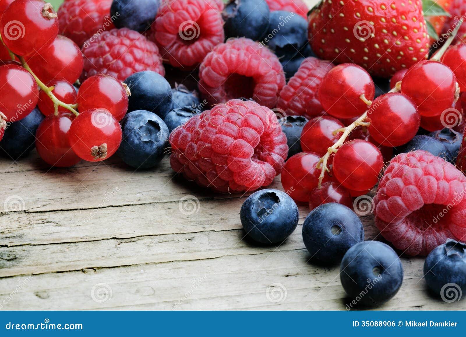 Mezcla de berrie differrerent
