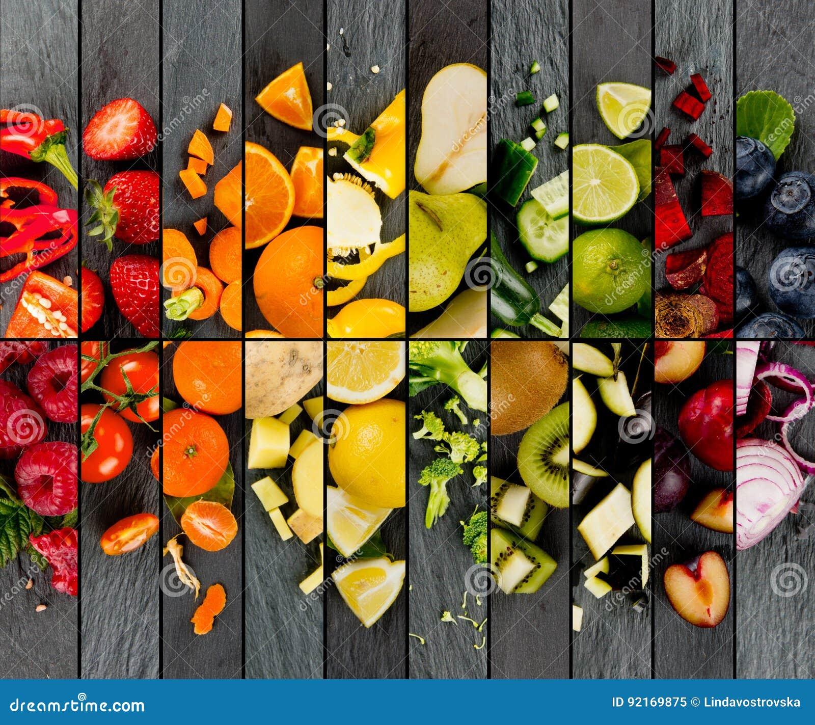 Mezcla de la fruta y verdura