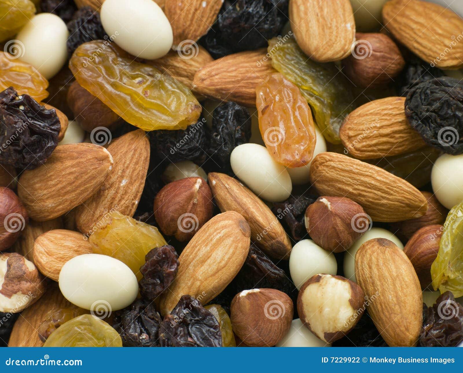 Mezcla de la tuerca y de los frutos secos