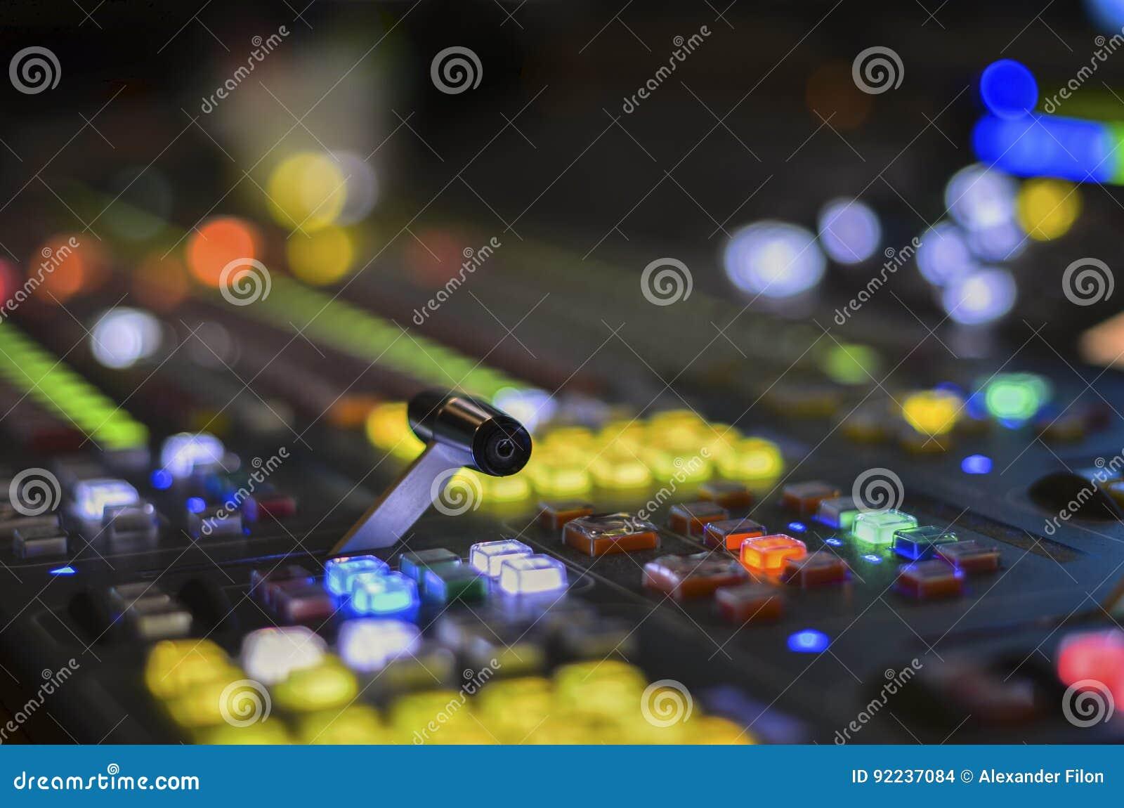 Mezclador del vídeo de la TV