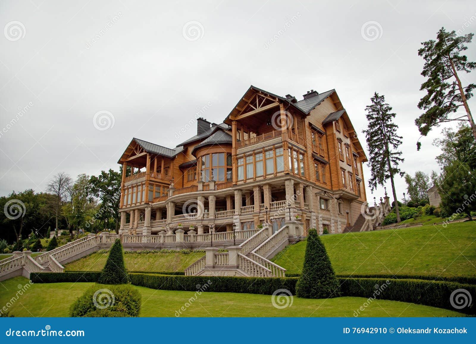 Mezhyhirya Ucrania 13 De Agosto De 2016 Casa De Madera I Del