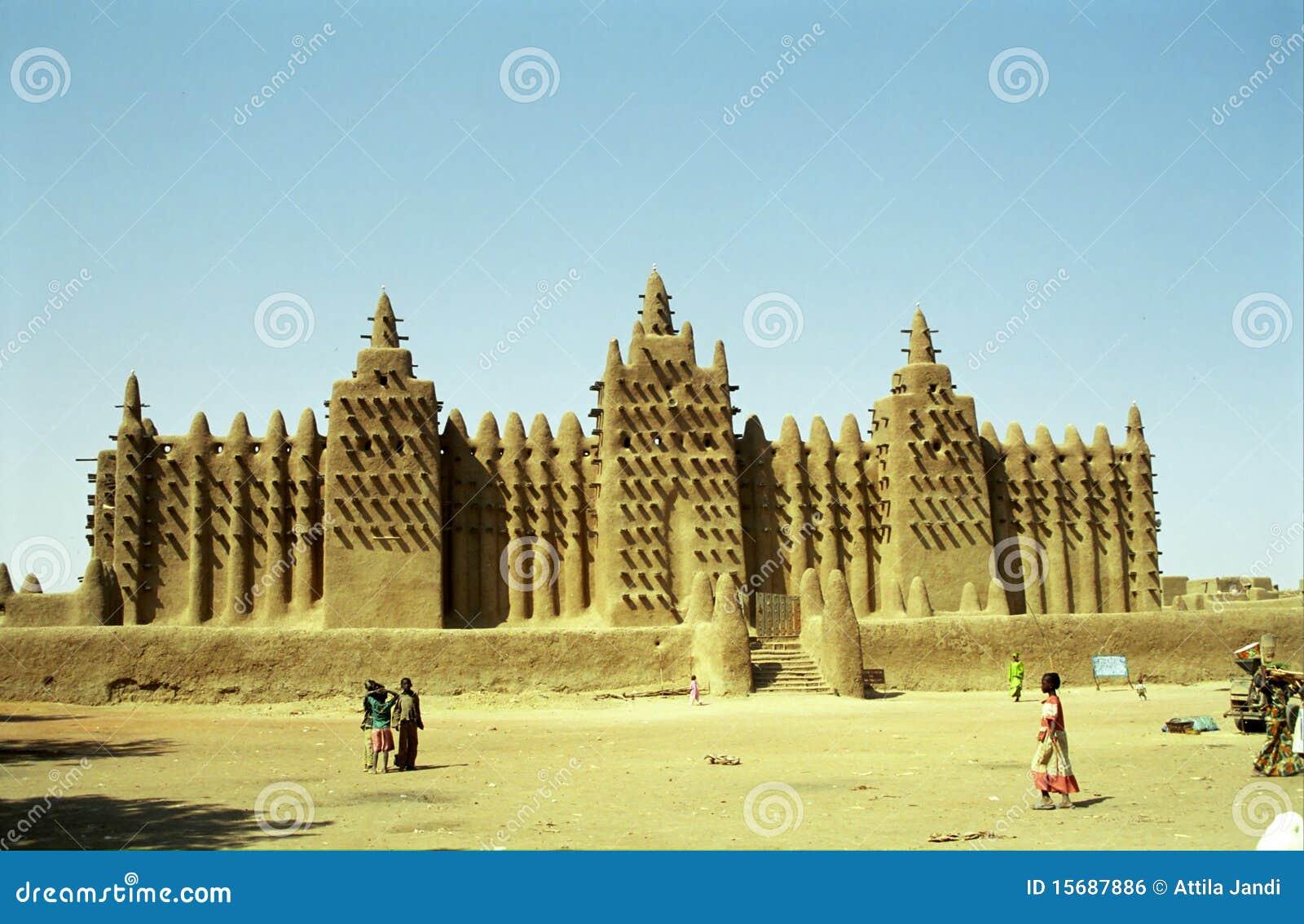 Mezquita del fango, Djenne, Malí