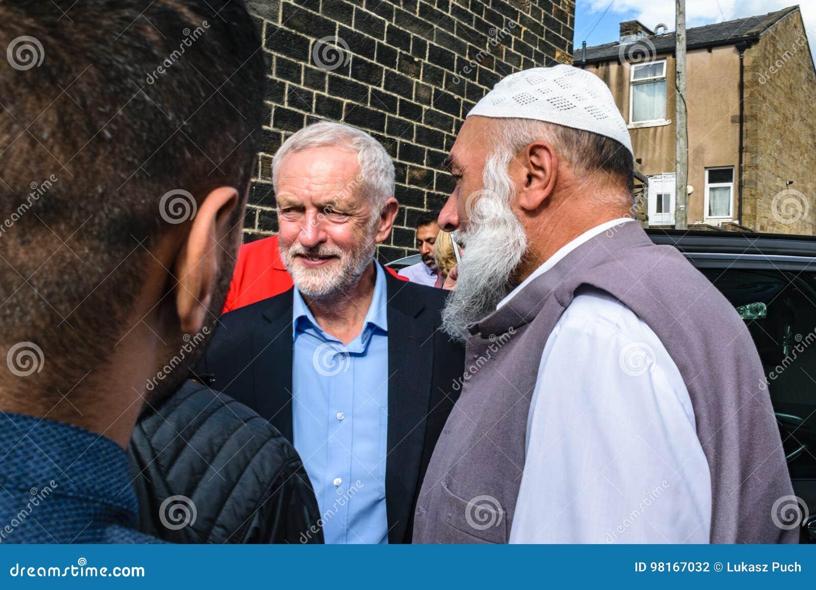Mezquita que visita de Jeremy Corbyn