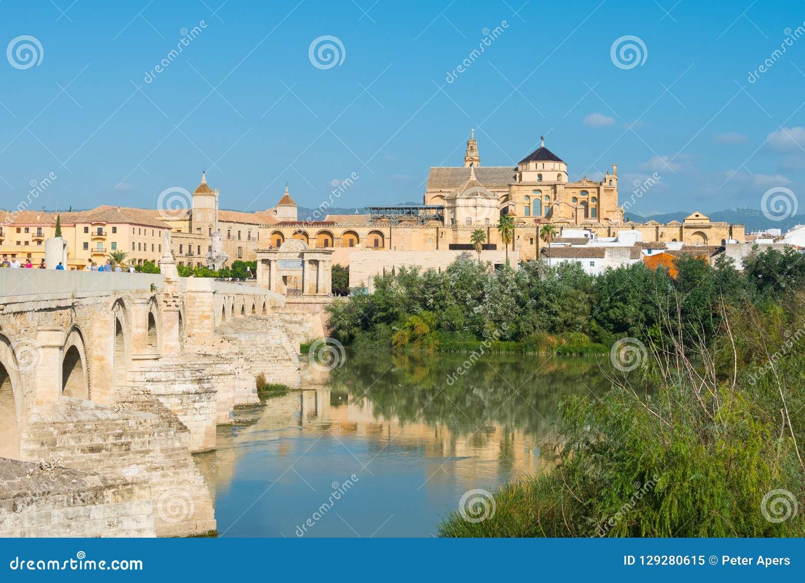 Mezquita and Roman bridge in Cordoba