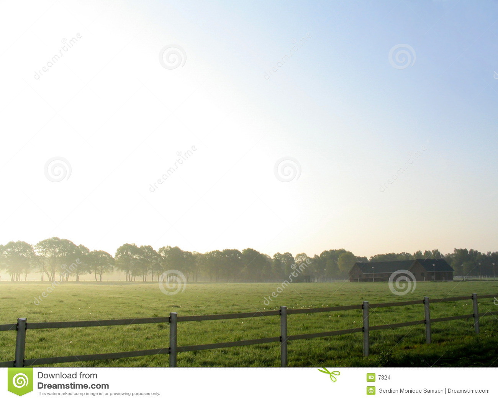 Mgła krajobrazu