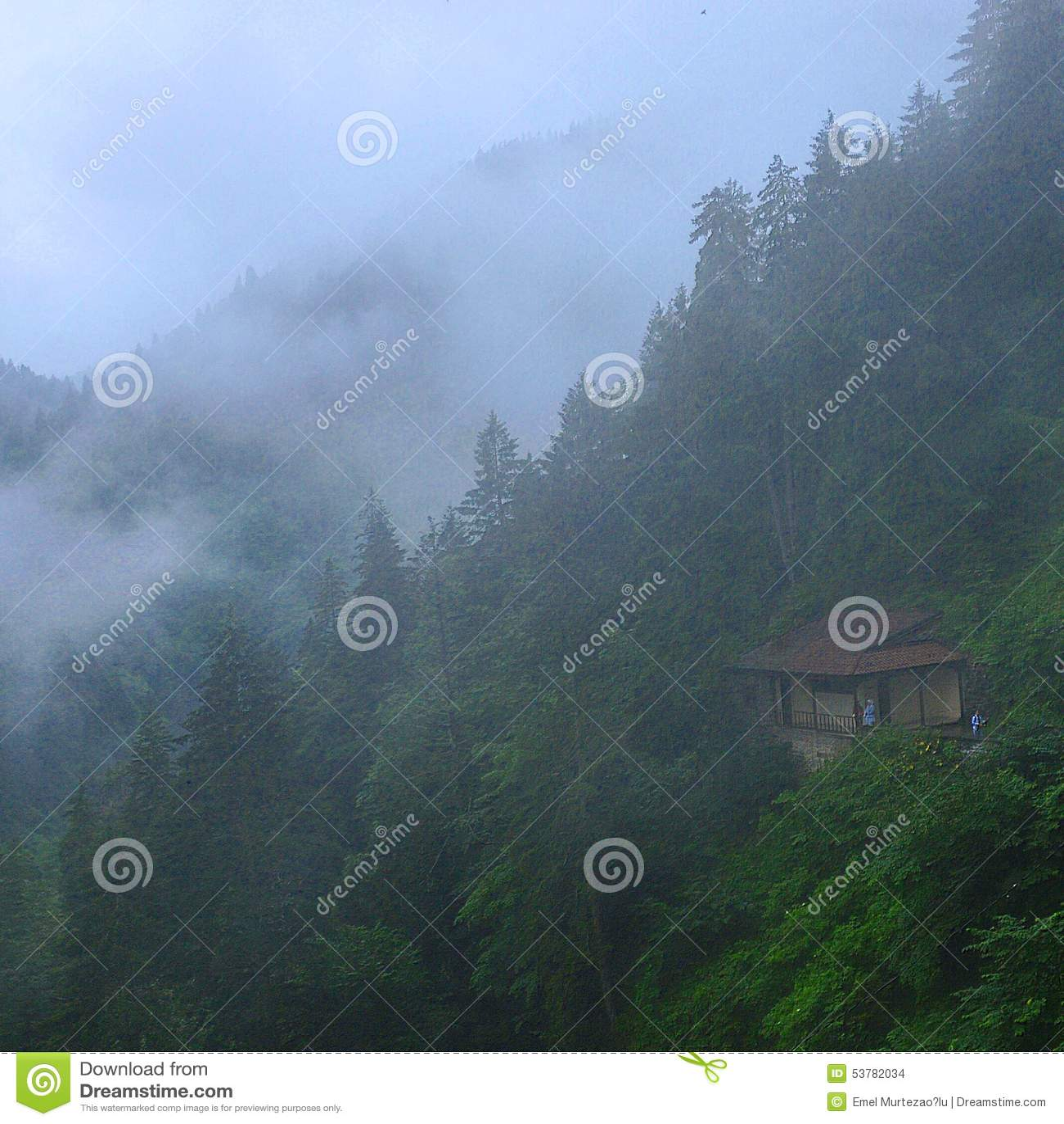 Mgła w Trabzon w Turcja