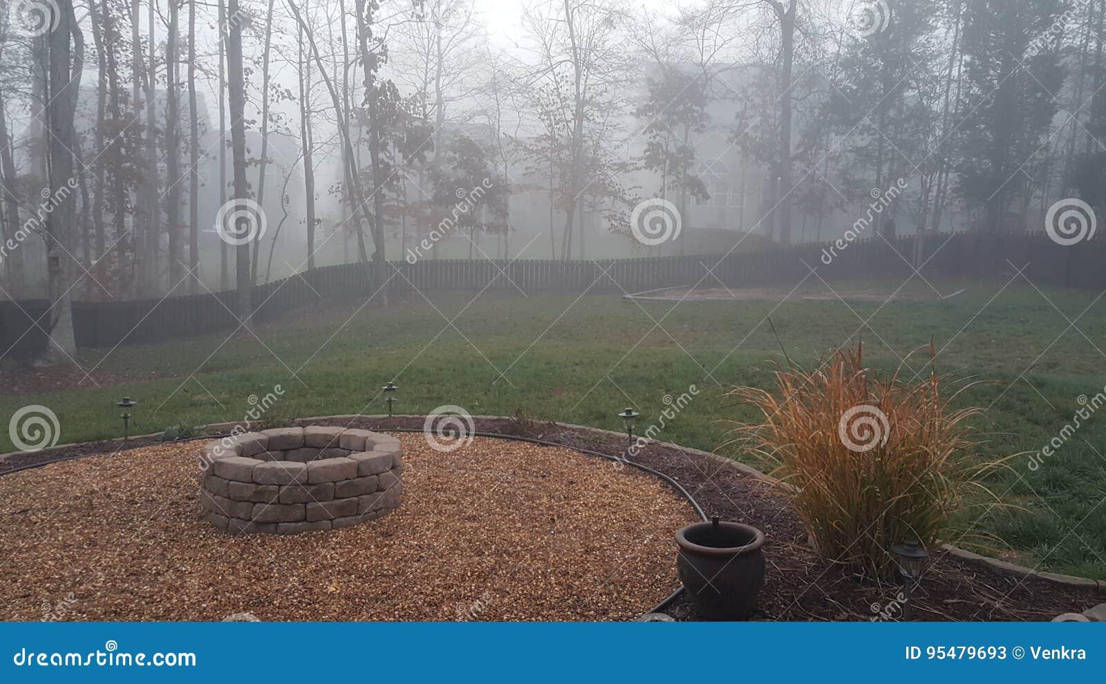 Mgłowy podwórko