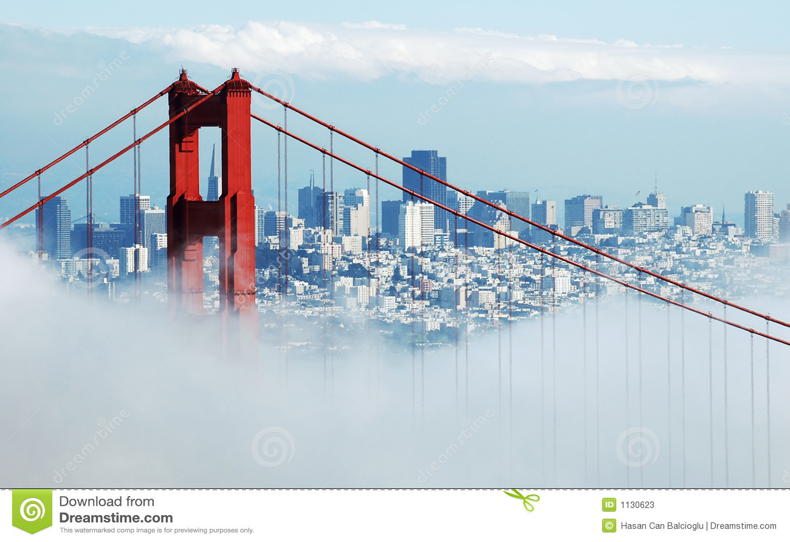 Mgły bridge Francisco San złotej bramy