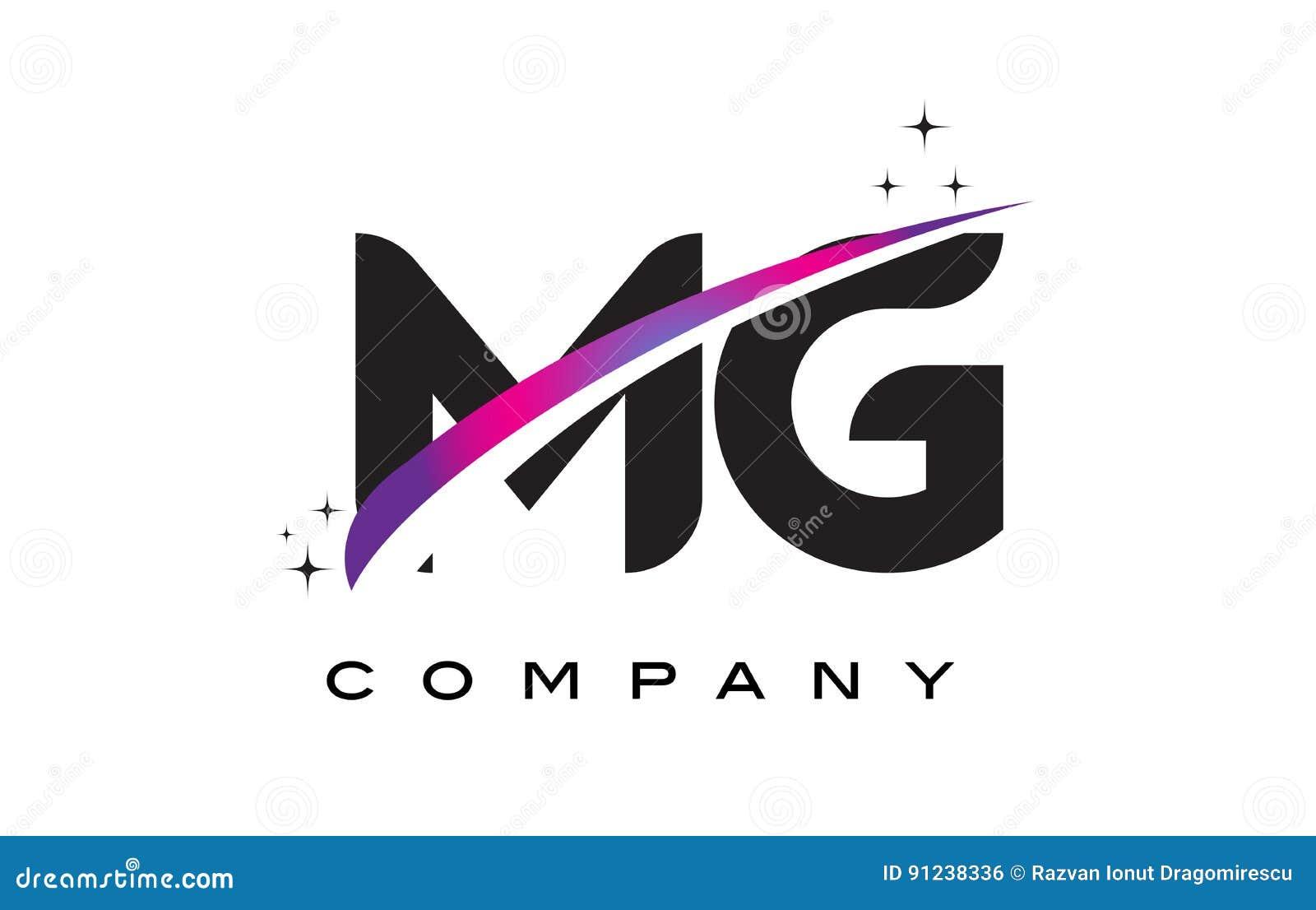 Mg M G Letter Logo Design Vector Illustration
