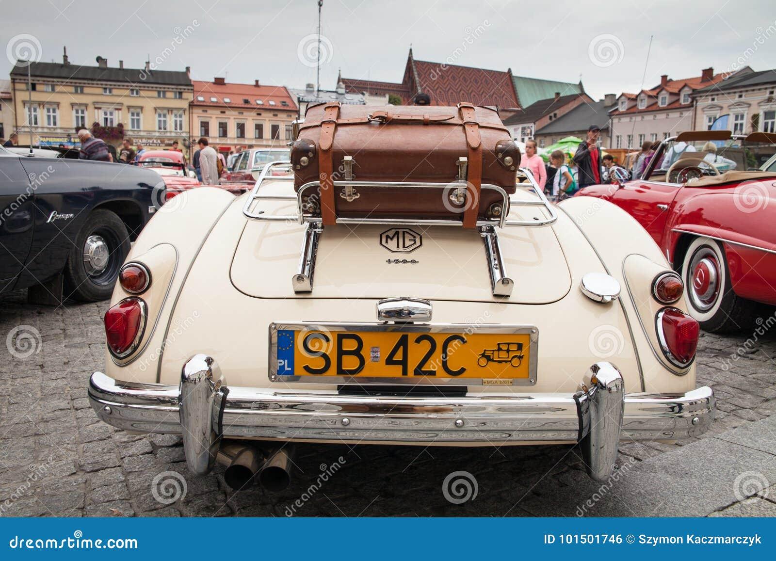 MG 1600, Rear View, Retro Design Car  Exhibition Of Vintage