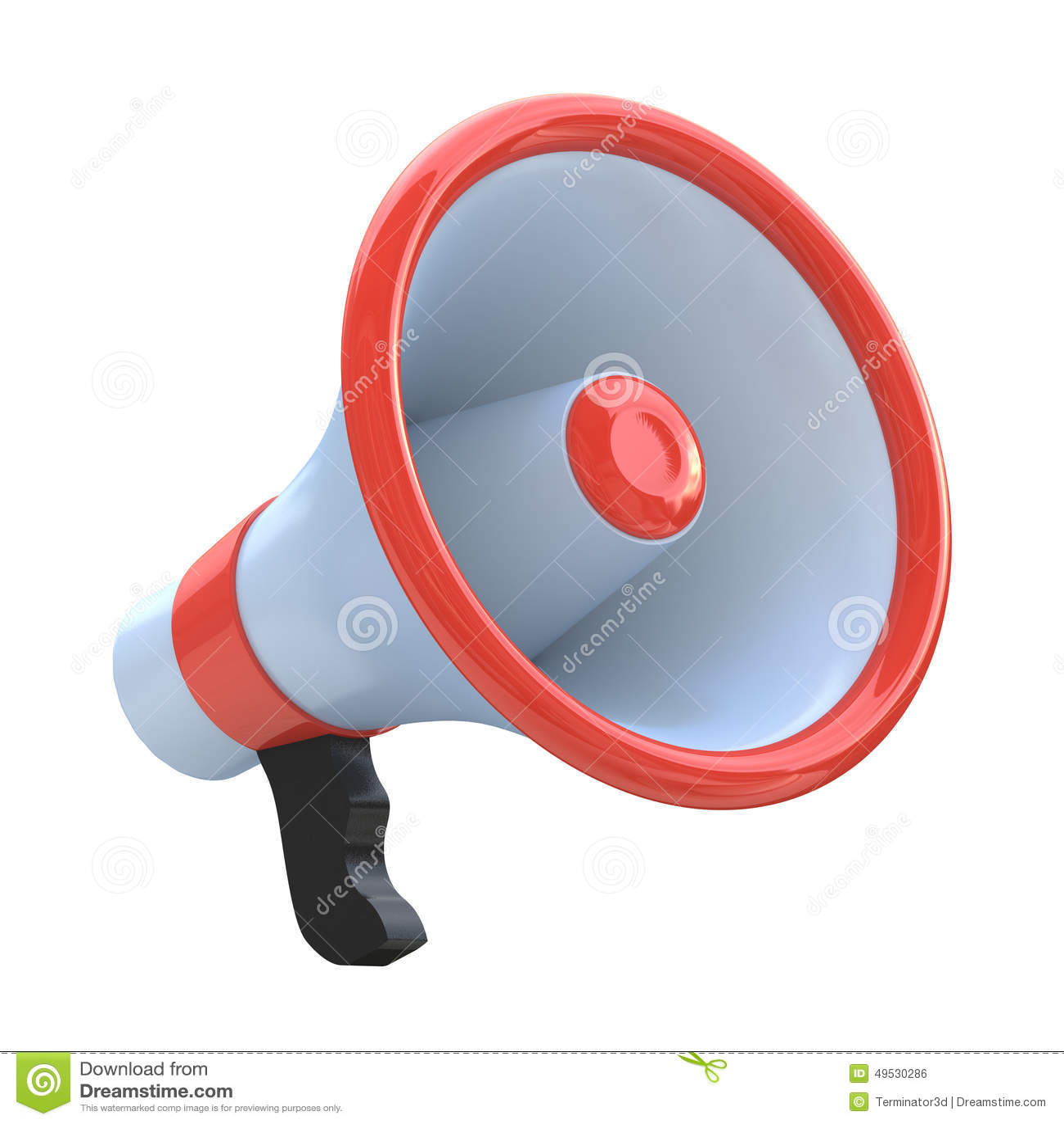 m gaphone ou haut parleur rouge illustration stock image 49530286. Black Bedroom Furniture Sets. Home Design Ideas