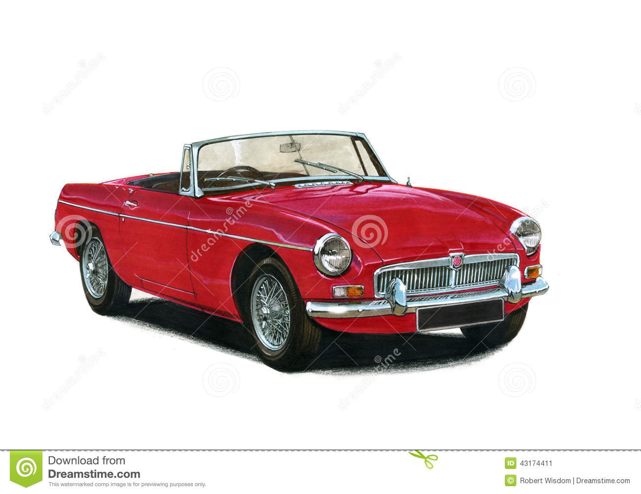 Mgb Roadster 1960s 1970s Editorial Photo Image 43174411