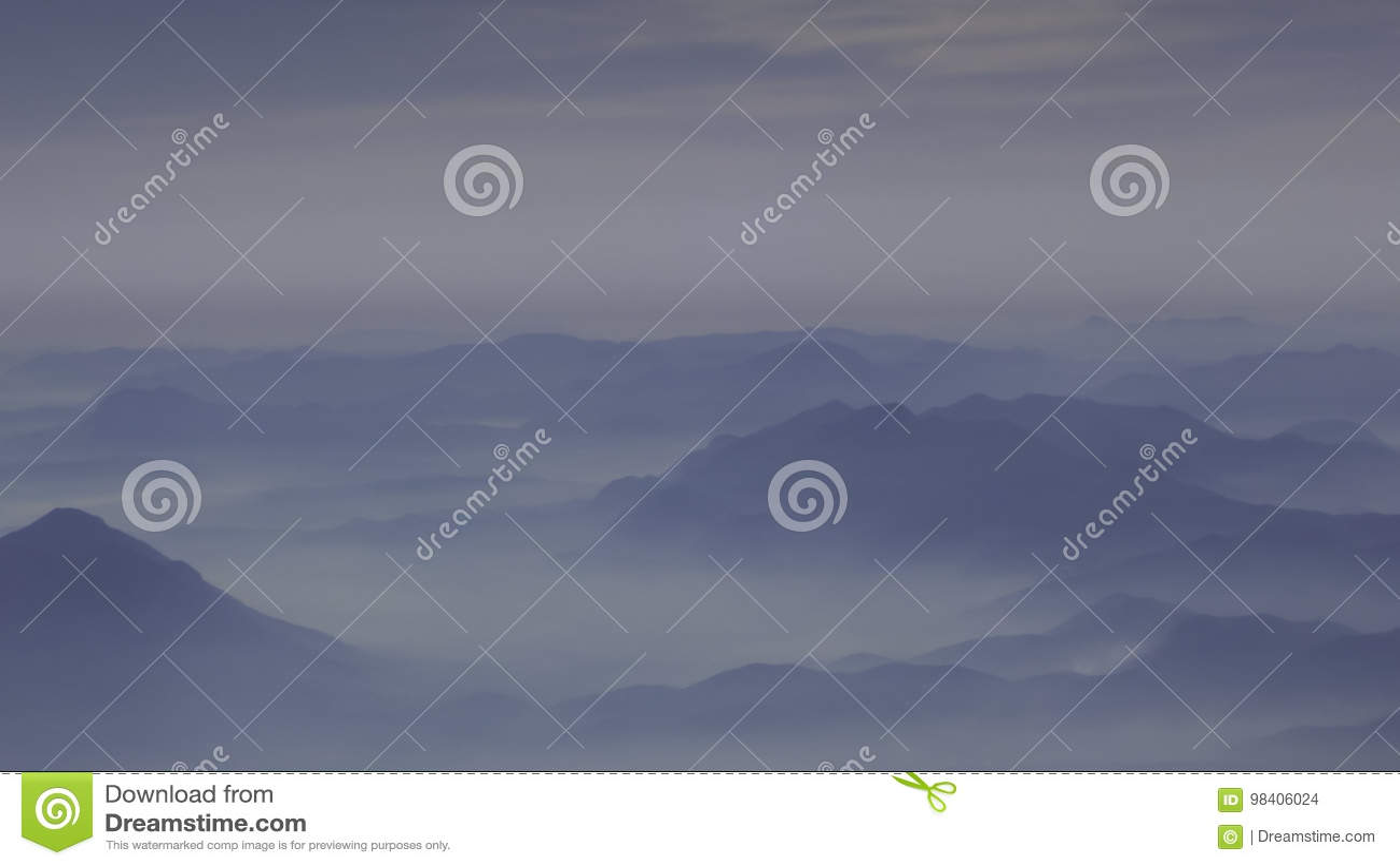 Mgliste Włoskie góry