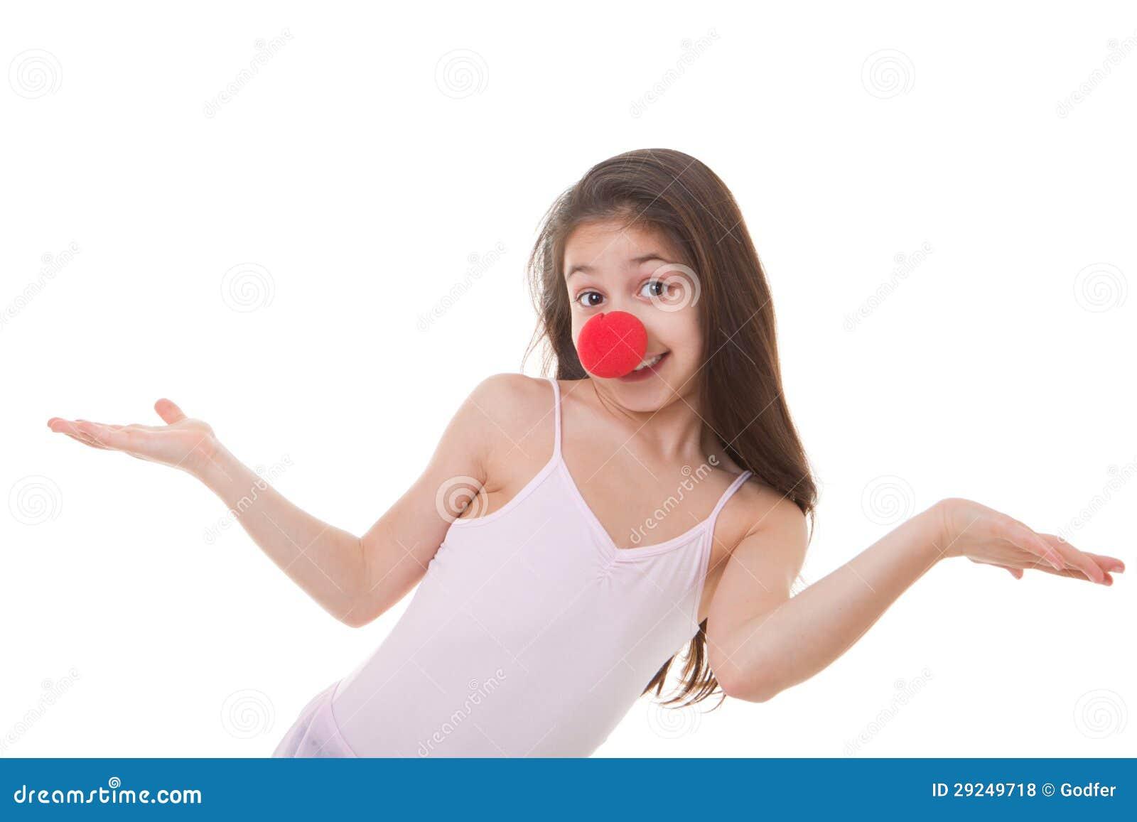 Download Miúdo Com O Nariz Vermelho Do Palhaço Foto de Stock - Imagem de infância, clown: 29249718