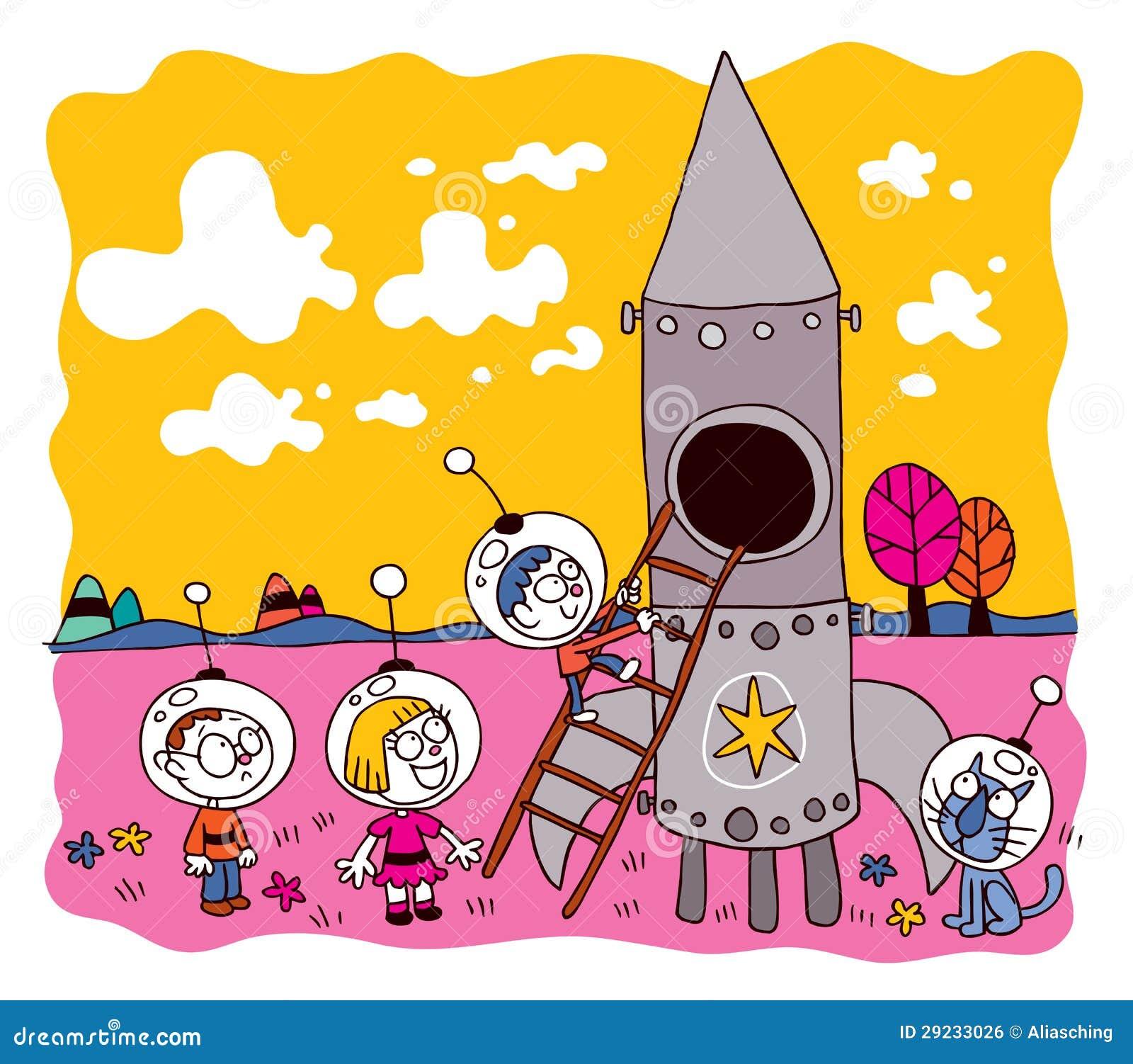 Download Miúdos do astronauta ilustração do vetor. Ilustração de astronauta - 29233026