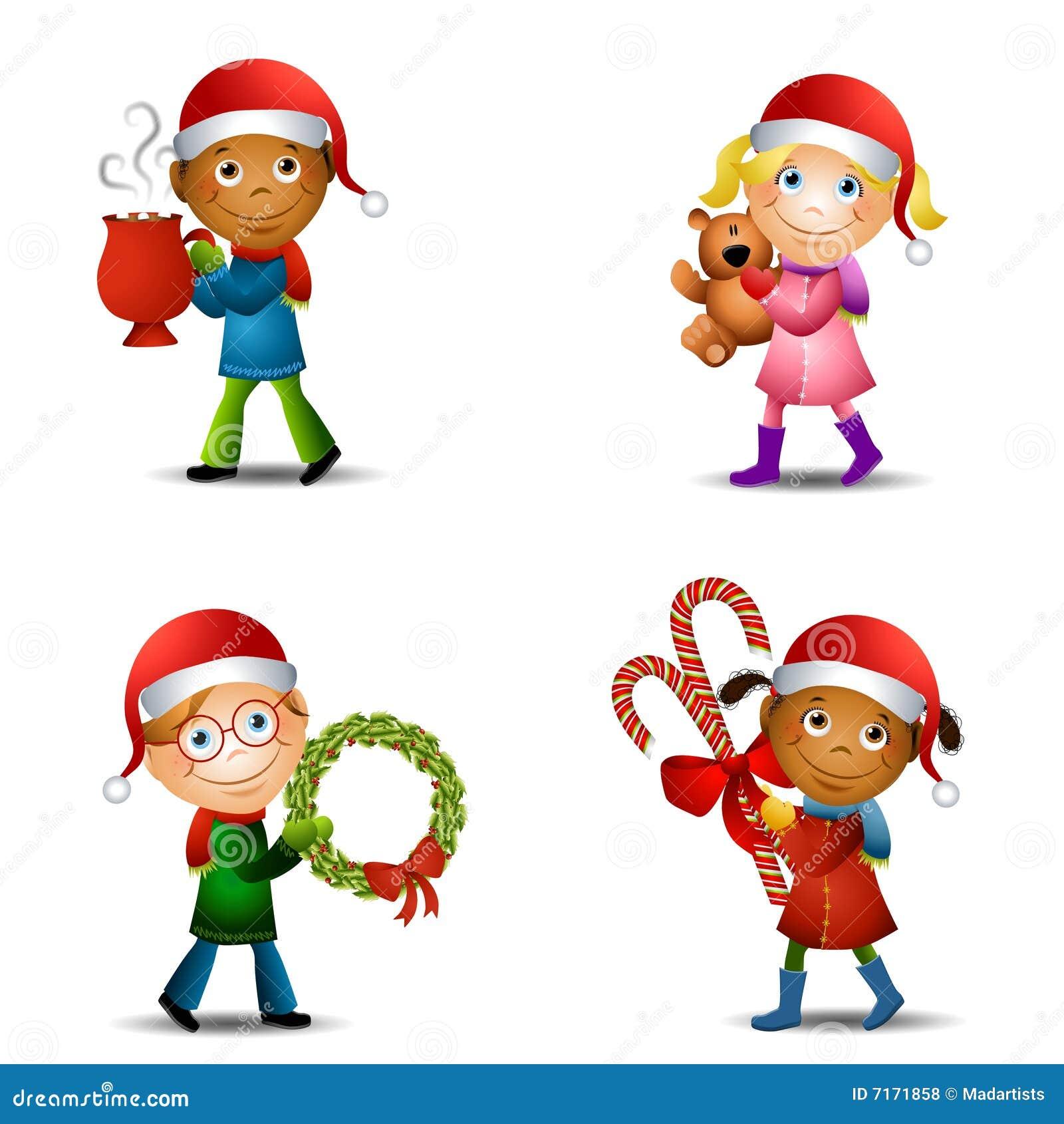 Miúdos do Natal com presentes
