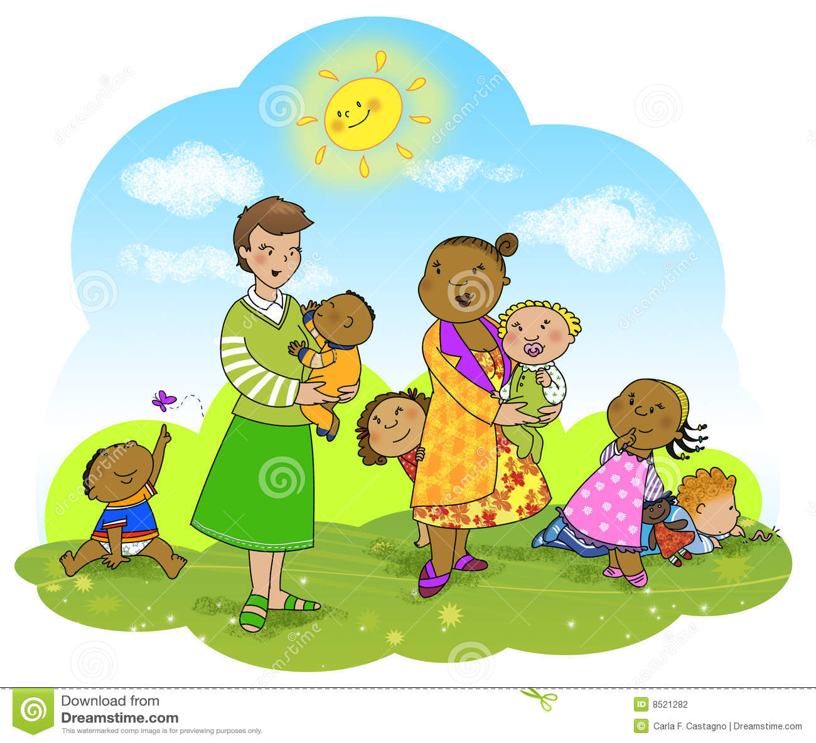 Miúdos e professores felizes
