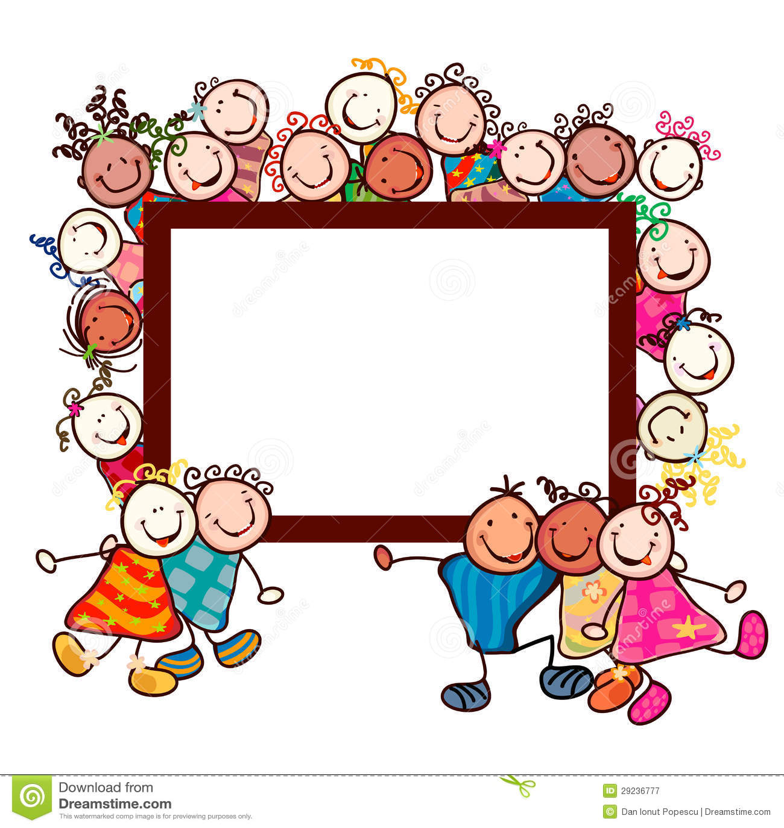 Download Miúdos felizes ilustração do vetor. Ilustração de vestido - 29236777