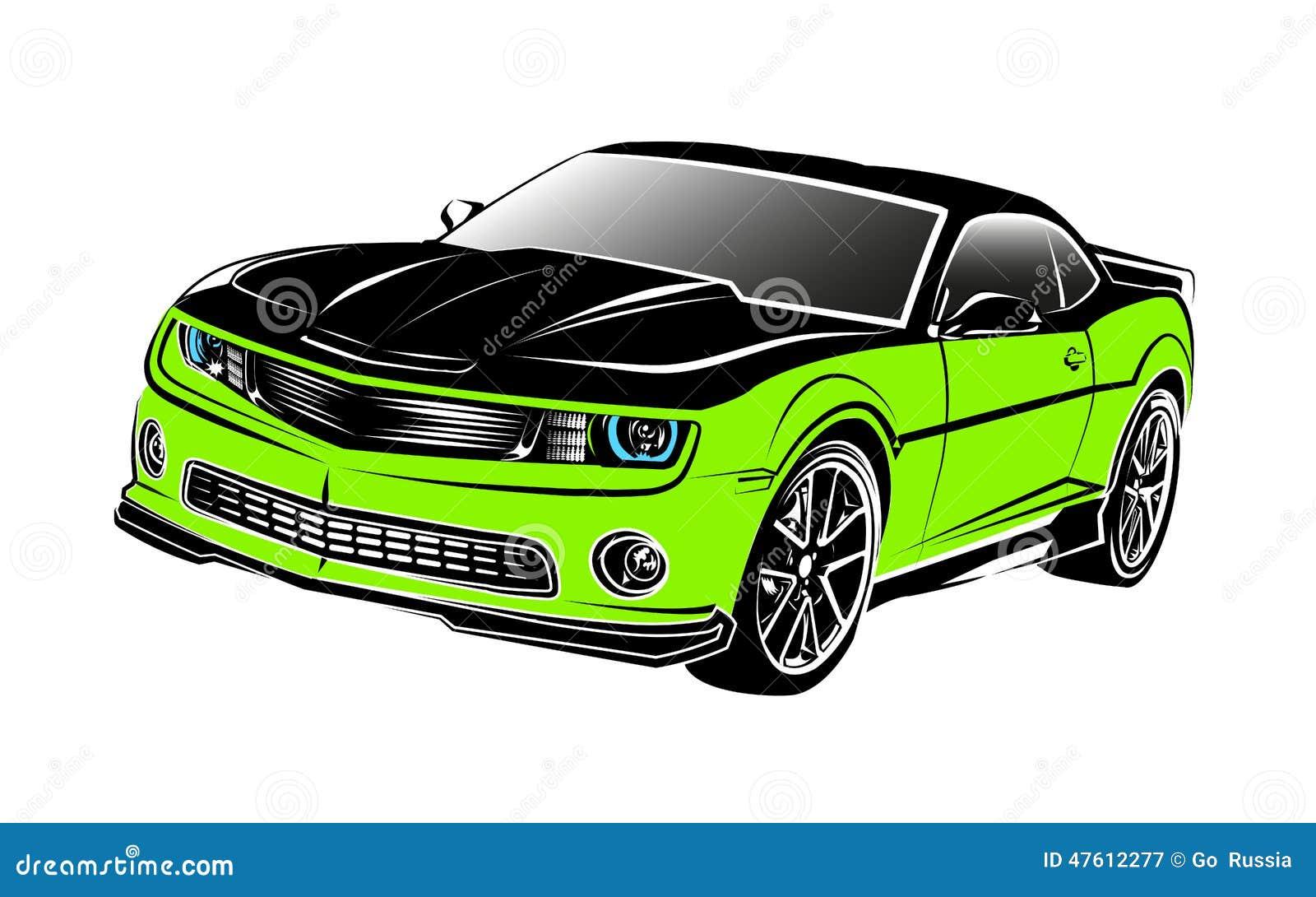 Mięśnia samochodu zieleń