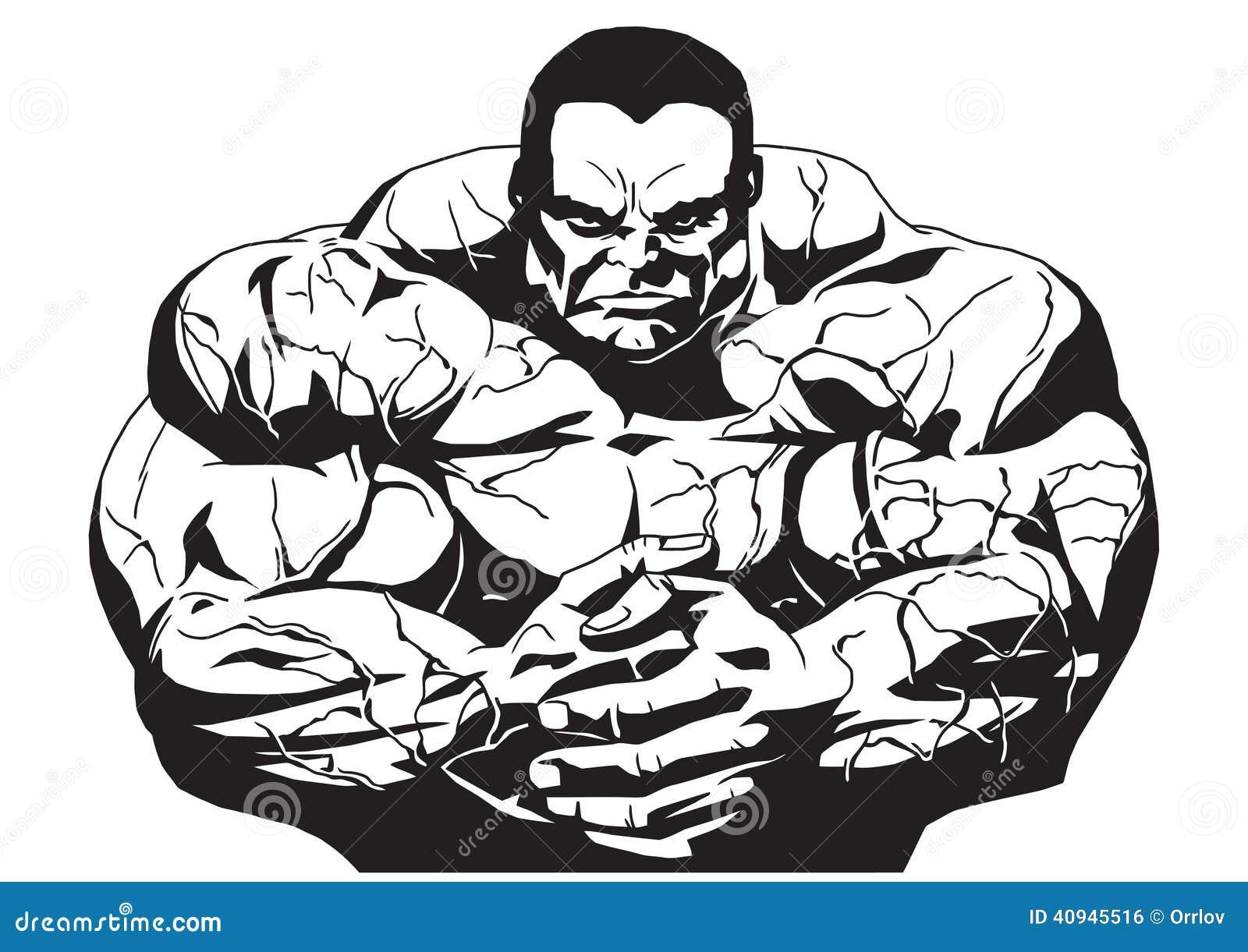 Mięśniowy bodybuilder