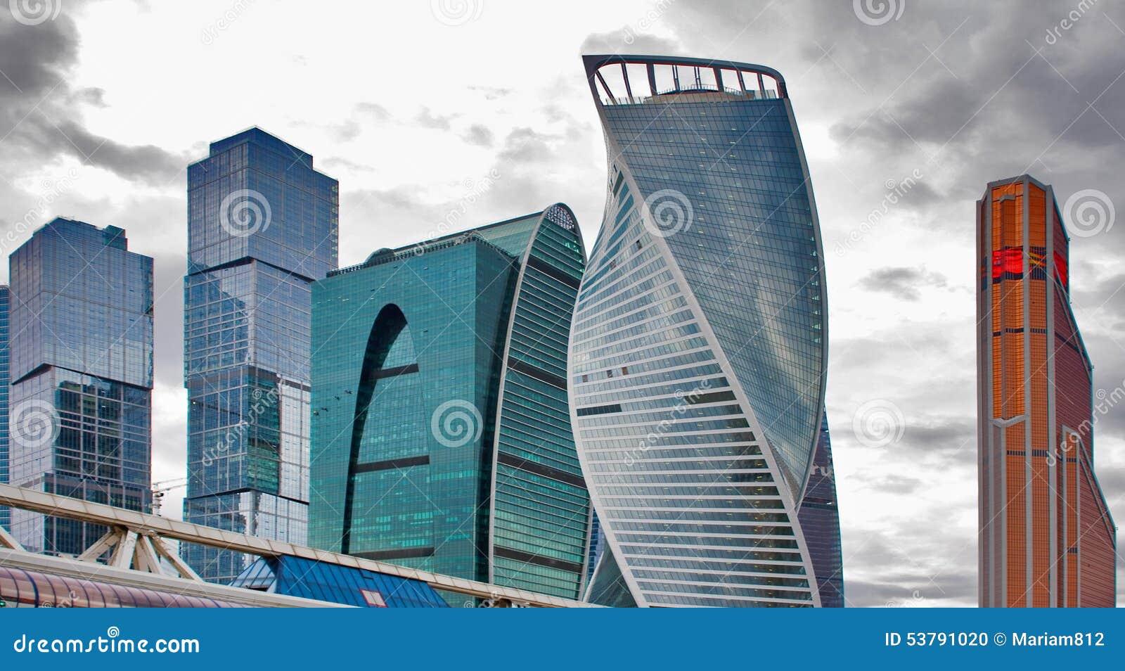 Międzynarodowi miasta biznesowego centre budynki