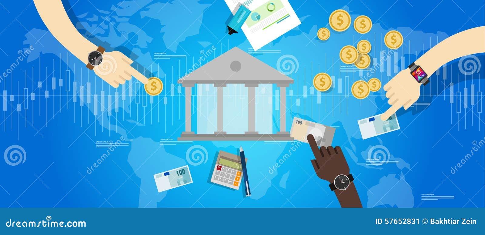 Międzynarodowy środkowego banka bankowości przemysłu rynek pieniężny