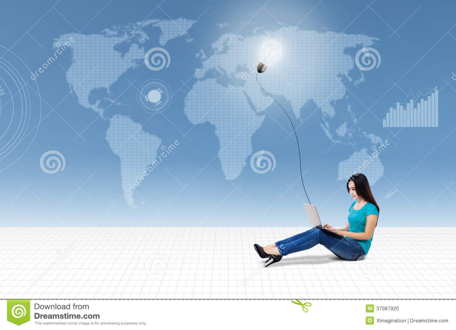 Download Międzynarodowy Studencki Związek Ilustracji - Ilustracja złożonej z jaskrawy, lampa: 37087920