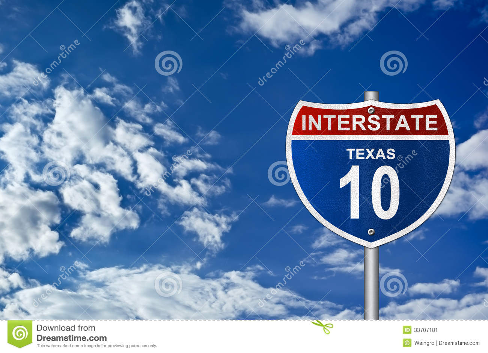 Międzystanowy drogowy znak