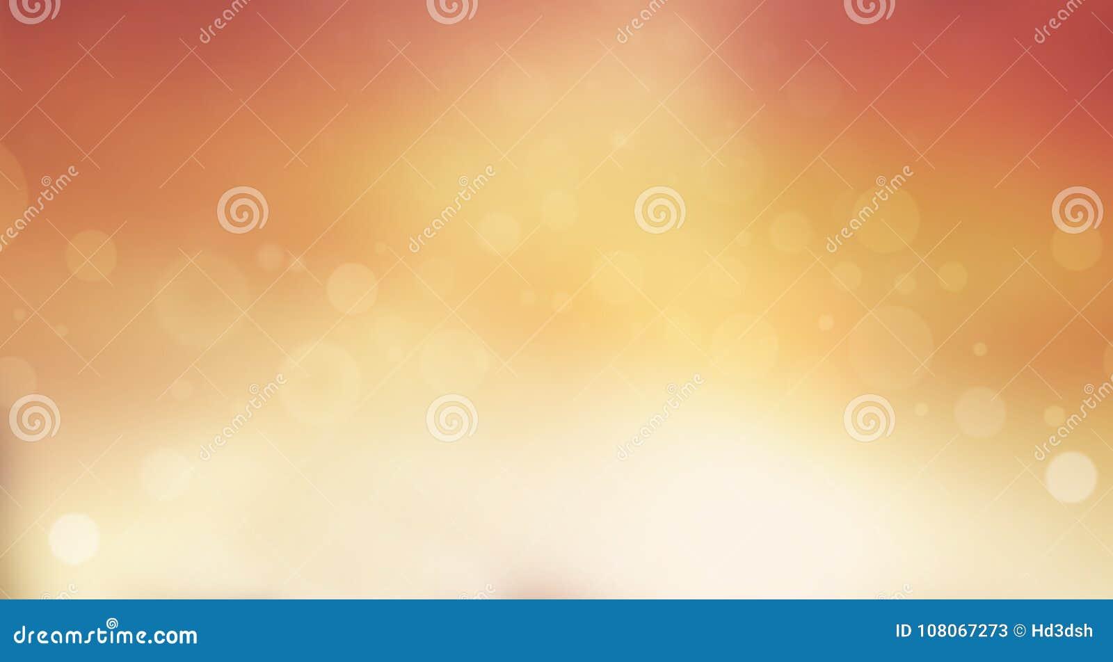 Miękka pomarańcze i żółty rozmyty tło z bokeh skutkiem