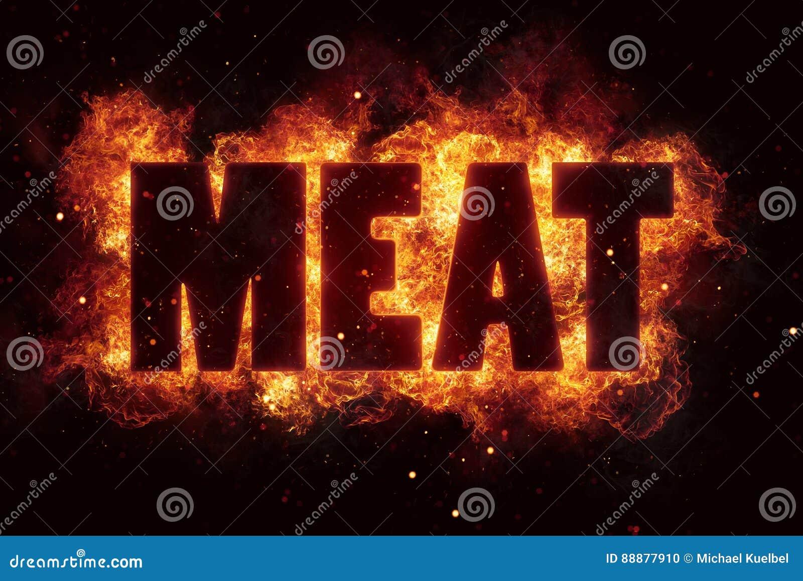 Mięsa bbq grilla przyjęcia tekst na ogieniu płonie wybuch