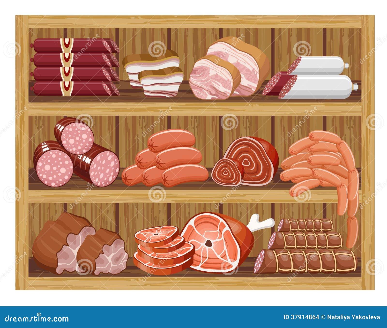 Mięsny rynek.