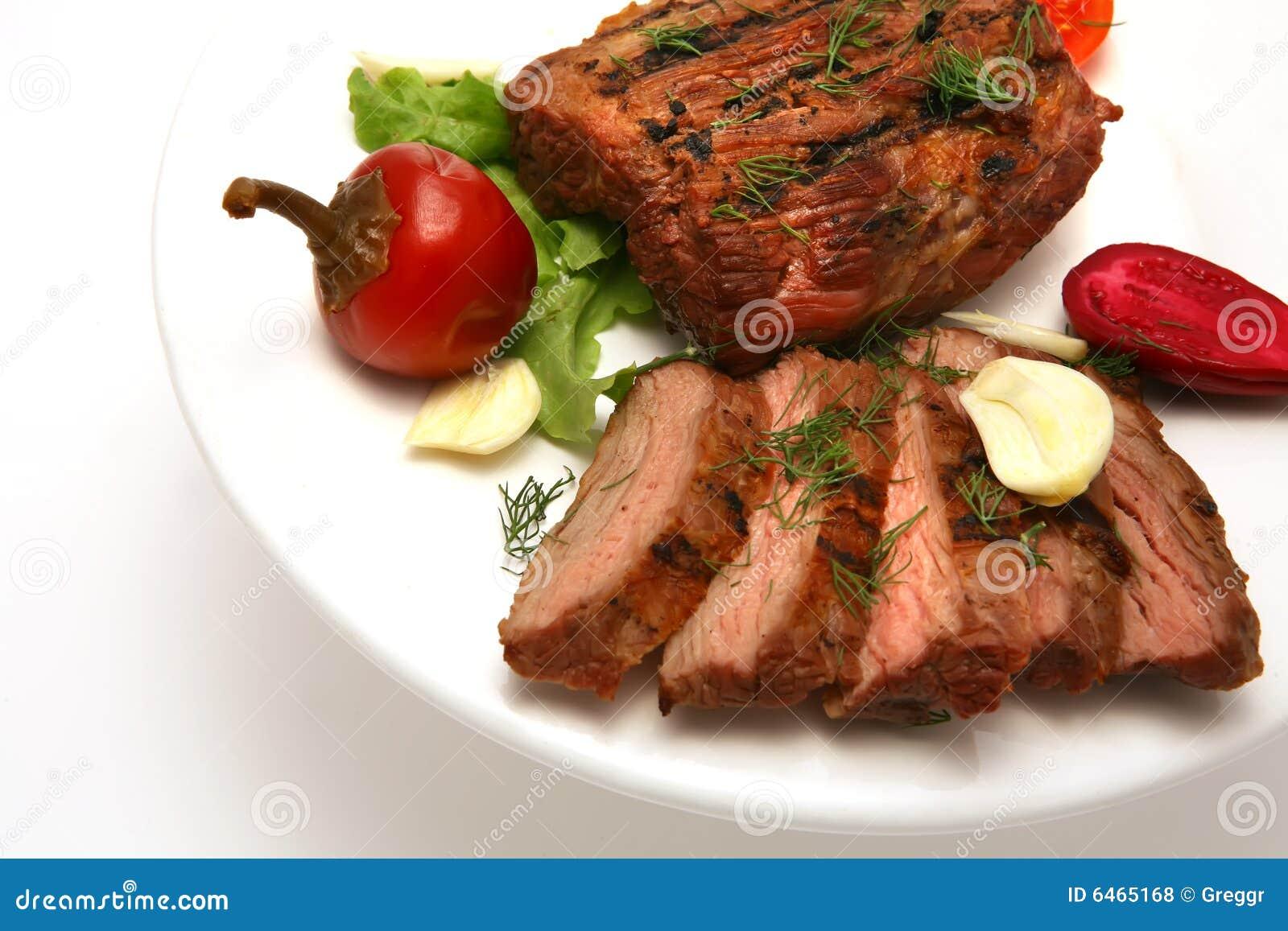 Mięso upiec służyć stek