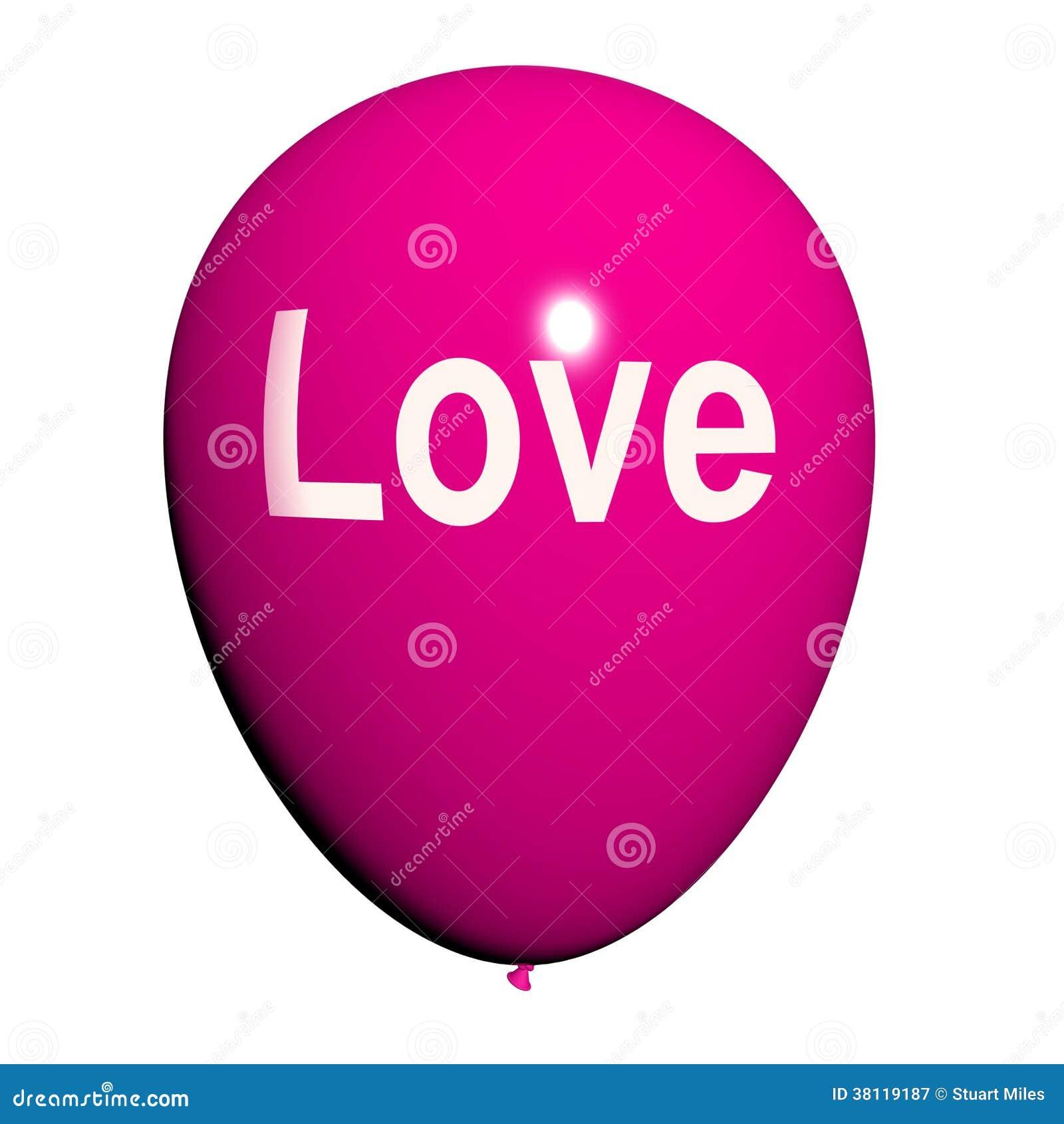 Miłość balon Pokazuje polubienie i Czule uczucia