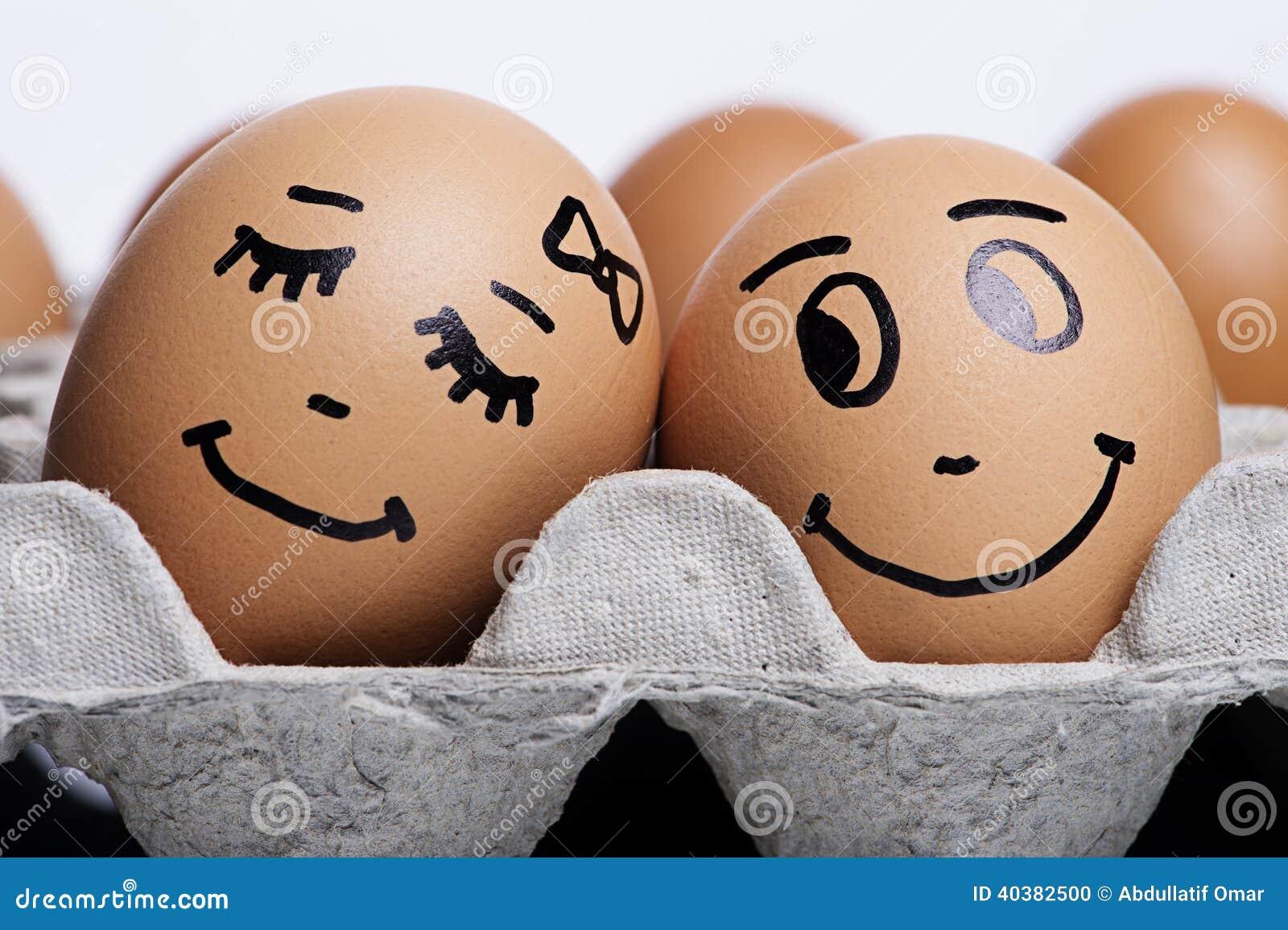 Miłość jajek para
