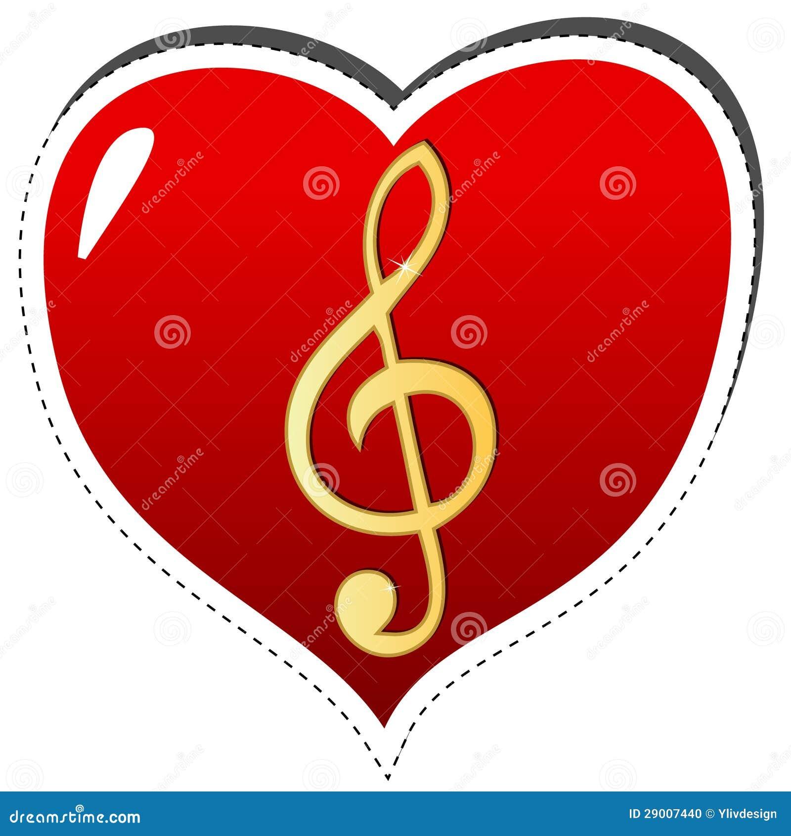 Miłość muzyczny symbol