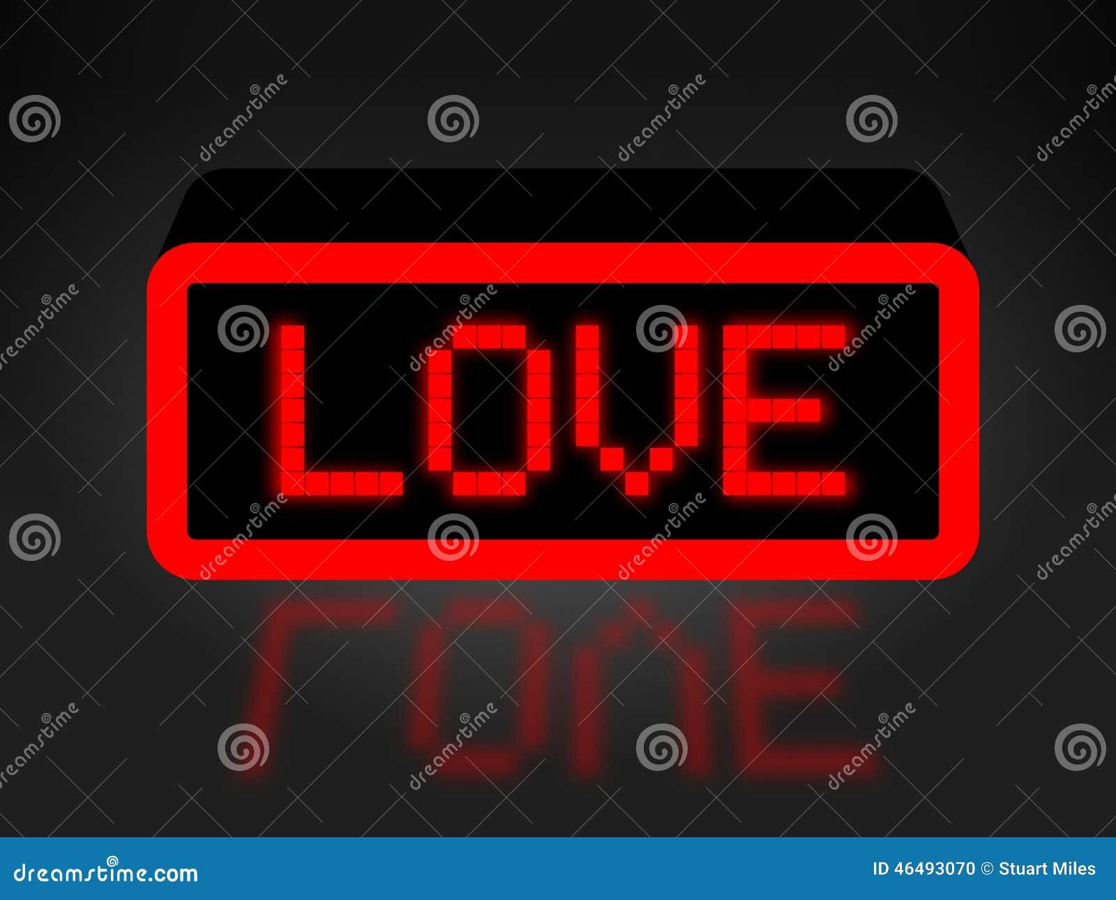 Miłość Neonowy znak Pokazuje współczucie Miłosiernego I afekcję