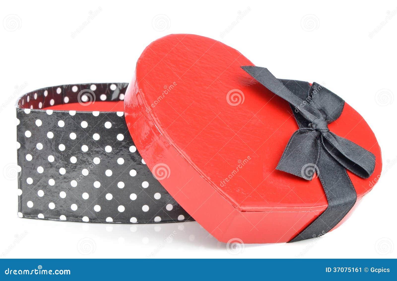 Download Miłość Prezenta Kierowy Pudełko Obraz Stock - Obraz złożonej z valentine, czerń: 37075161